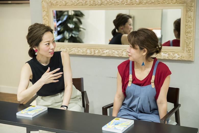 『道を継ぐ』の著者の佐藤友美さんとMichio Nozawa HAIR SALON Ginzaのスタイリスト・那須久美子さんの対談