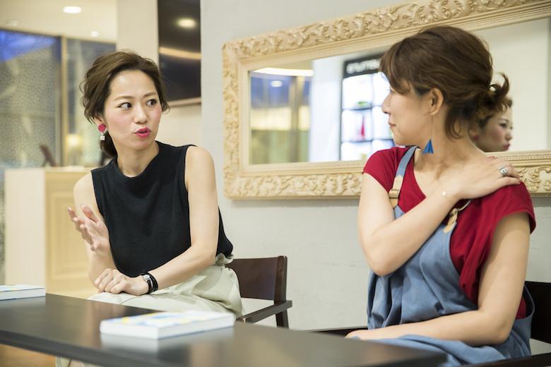 仕事で心がけることについて語る那須久美子さん