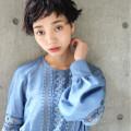 【黒髪が映える!】オンナらしさが際立つベリーショートヘアカタログ