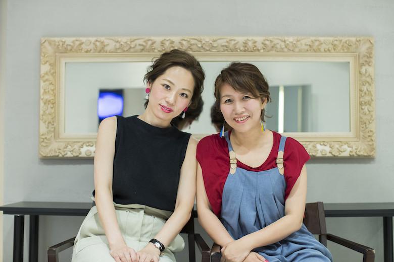 『道を継ぐ』の著者の佐藤友美さんとMichio Nozawa HAIR SALON Ginzaのスタイリスト・那須久美子さん