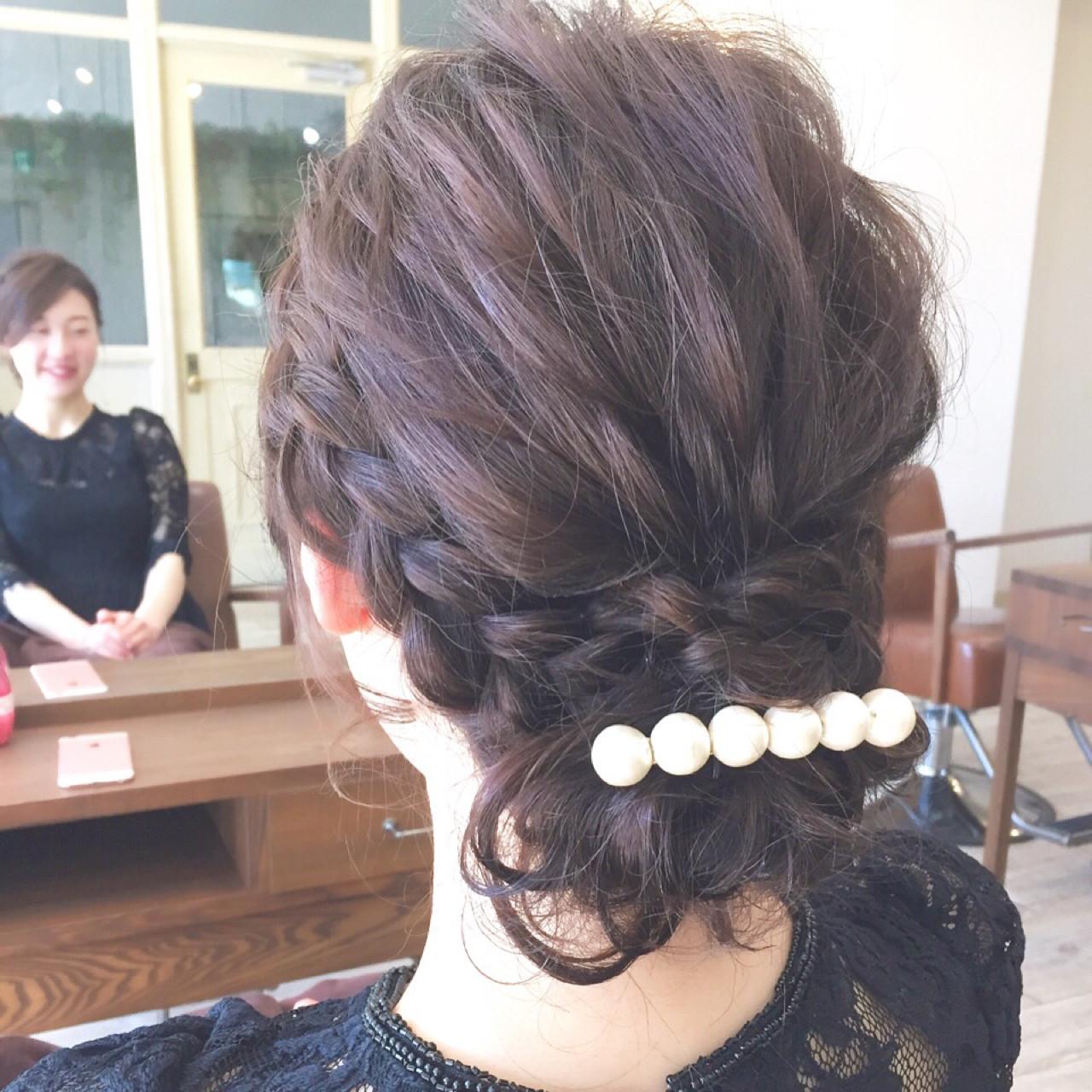 ヘアアレンジ ボブ 大人女子 結婚式 ヘアスタイルや髪型の写真・画像