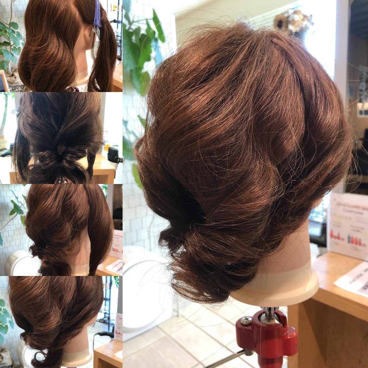 ひねってとめればレディライクな仕上がりに♡ YASU | hair salon M.plus ヨツバコ店 (ヘアーサロン エムプラス)