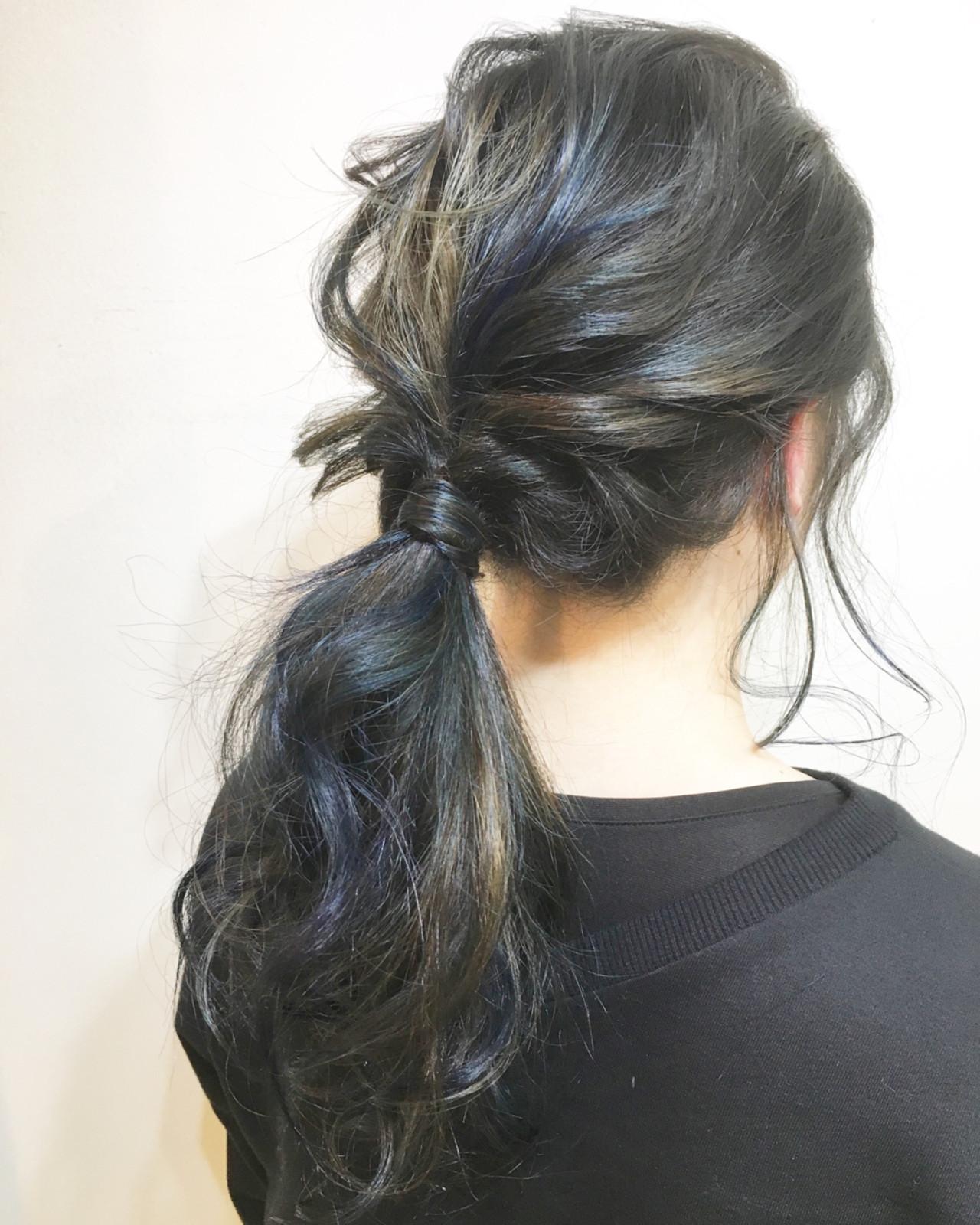 透明感 ハイトーン ミディアム 斜め前髪 ヘアスタイルや髪型の写真・画像