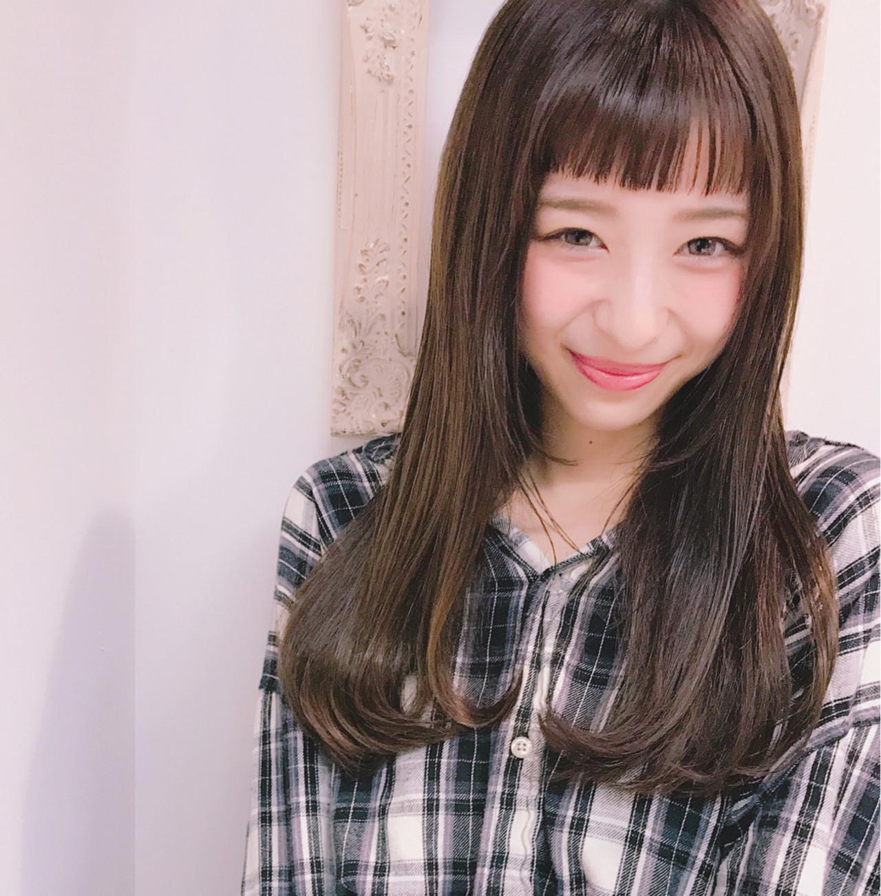伸ばしかけもOK!オン眉の大人愛されミディアムヘア♡ Wataru Maeda