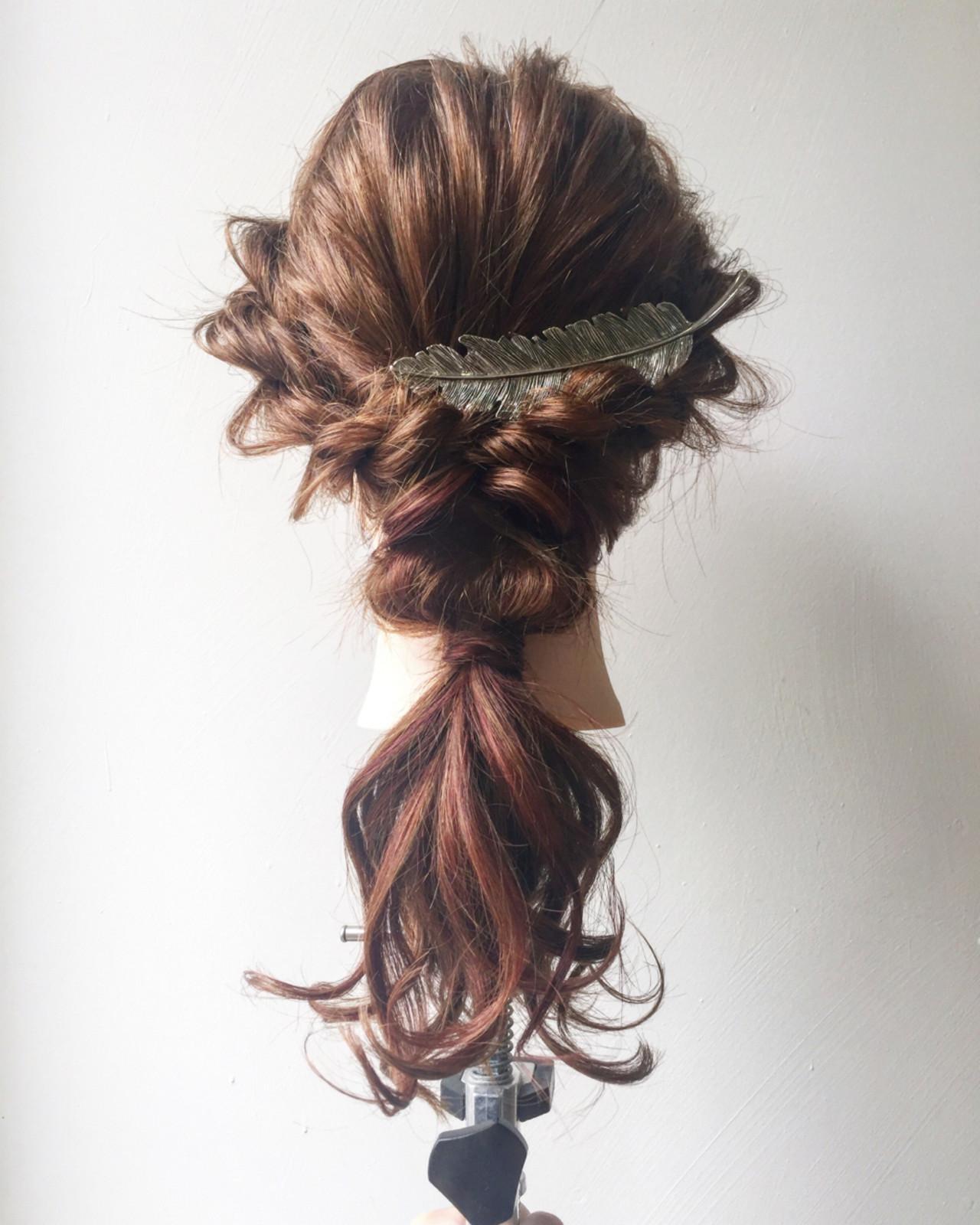 ヘアアレンジ ロング エレガント 上品 ヘアスタイルや髪型の写真・画像