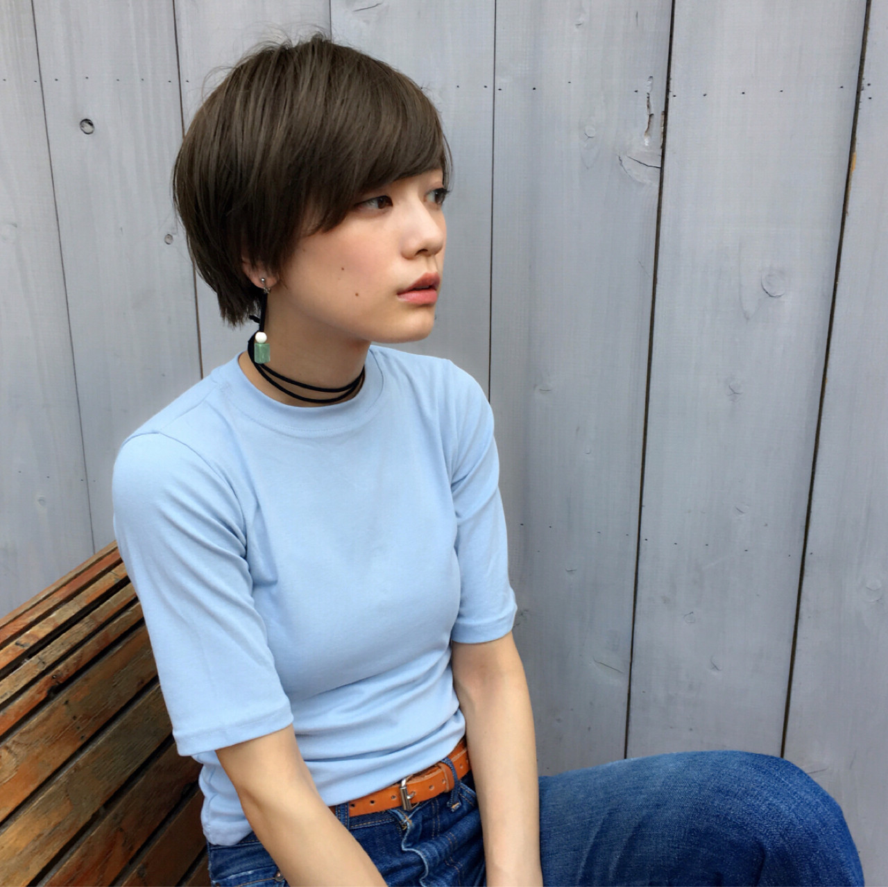 アッシュ 外国人風 ストリート 大人かわいい ヘアスタイルや髪型の写真・画像