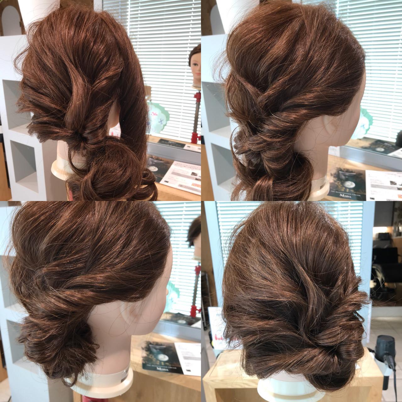 結婚式もOK!パーティにもいける華やかアレンジ YASU  hair salon M.plus ヨツバコ店 (ヘアーサロン エムプラス)