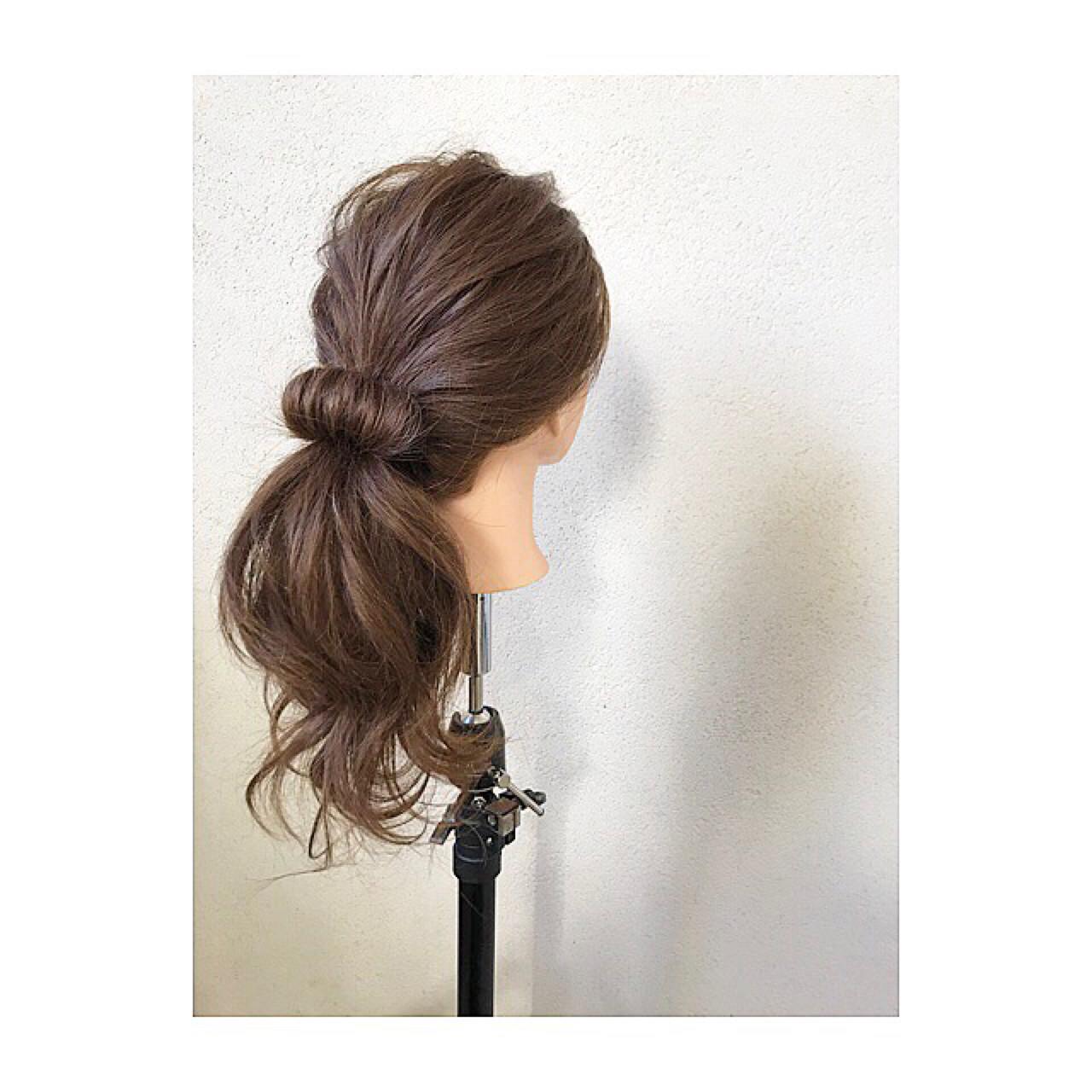 きれいなお姉さんスタイル♪ドーナツポニー オグラタカヒロ  HAIR RESORT THE AMAN GIRL