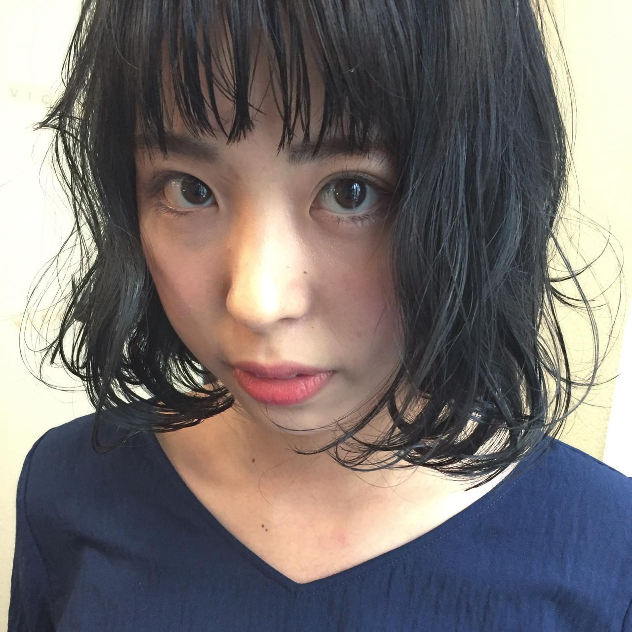 オン眉×黒髪は大人かわいいゆるふわがおすすめ★ 田渕 英和