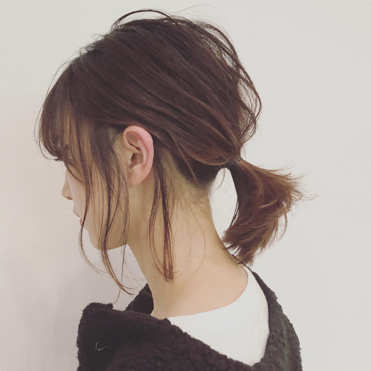 ローポニーテールで髪の肩はねをカバーしよう 三好 佳奈美 | Baco.(バコ)
