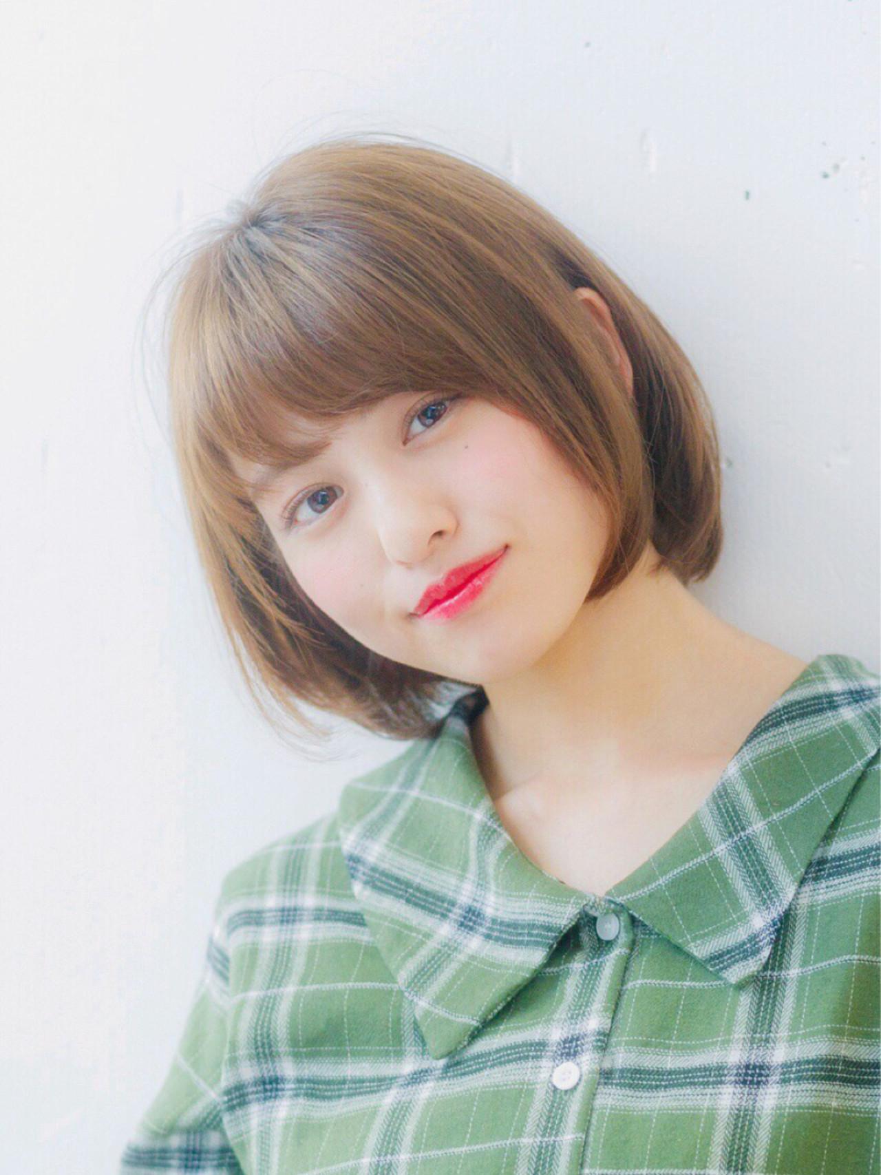 フェミニンさたっぷりの耳かけストレートボブ 大塚孝範 | hair salon ing (ヘア サロン イング)