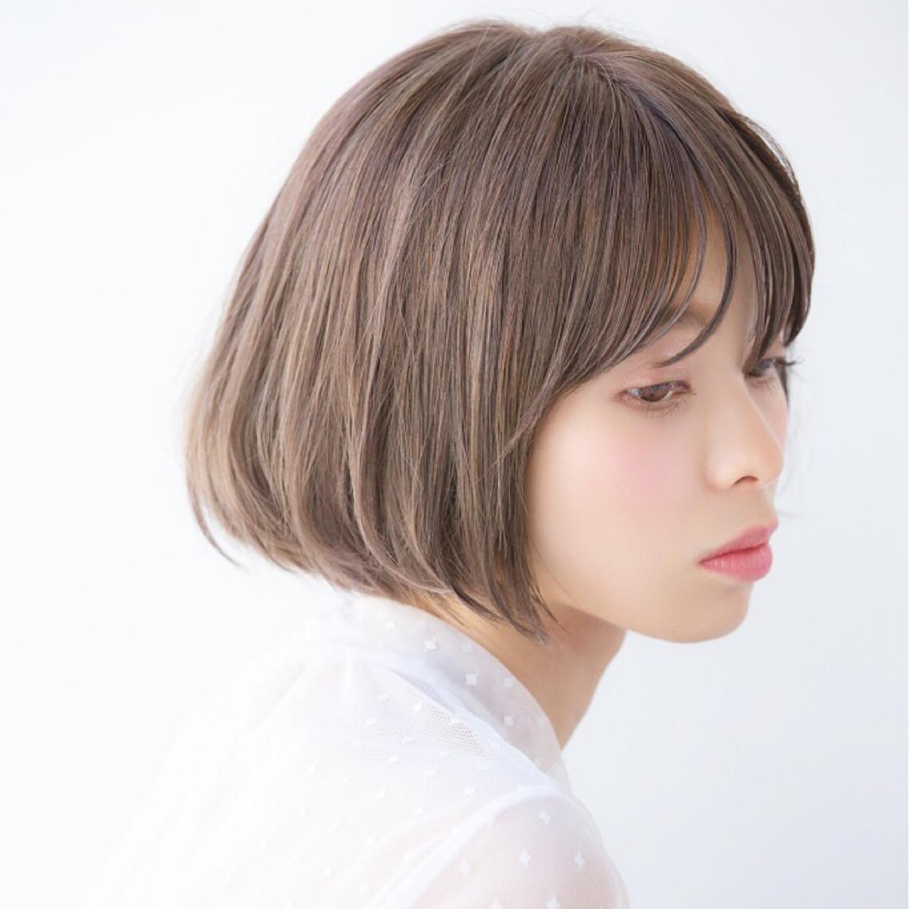 流し前髪と丸みがポイントの■四角形×ショート NAOMI | Ramie