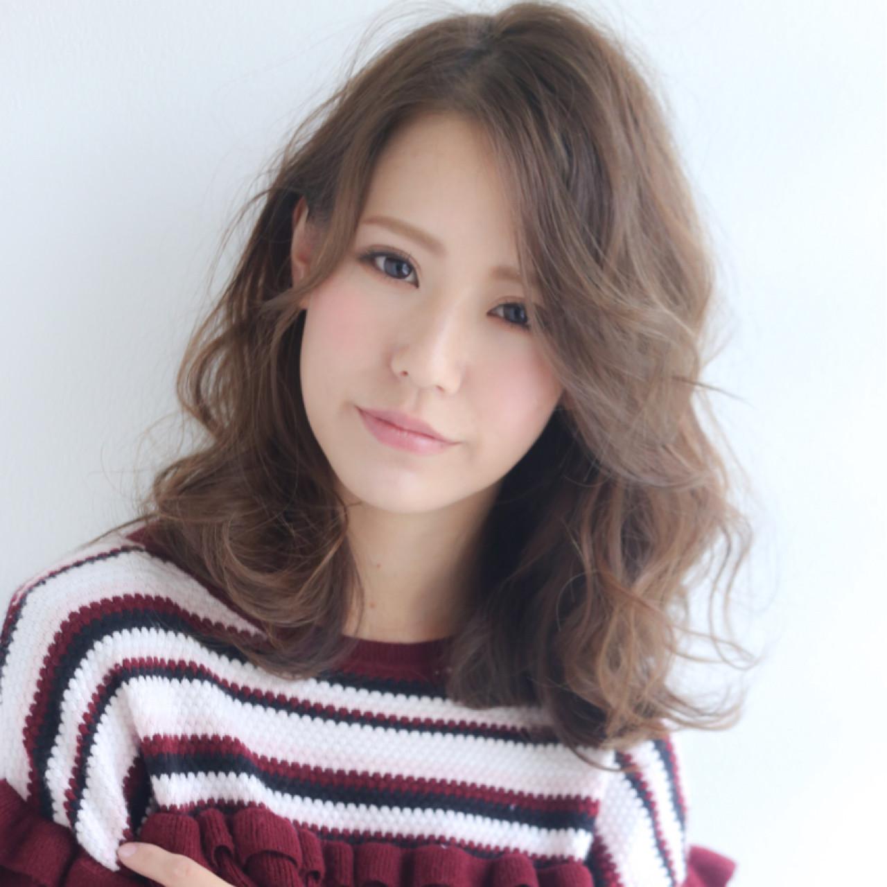 卵型×ミディアムボブ+前髪なし 木村 圭希 | Ami