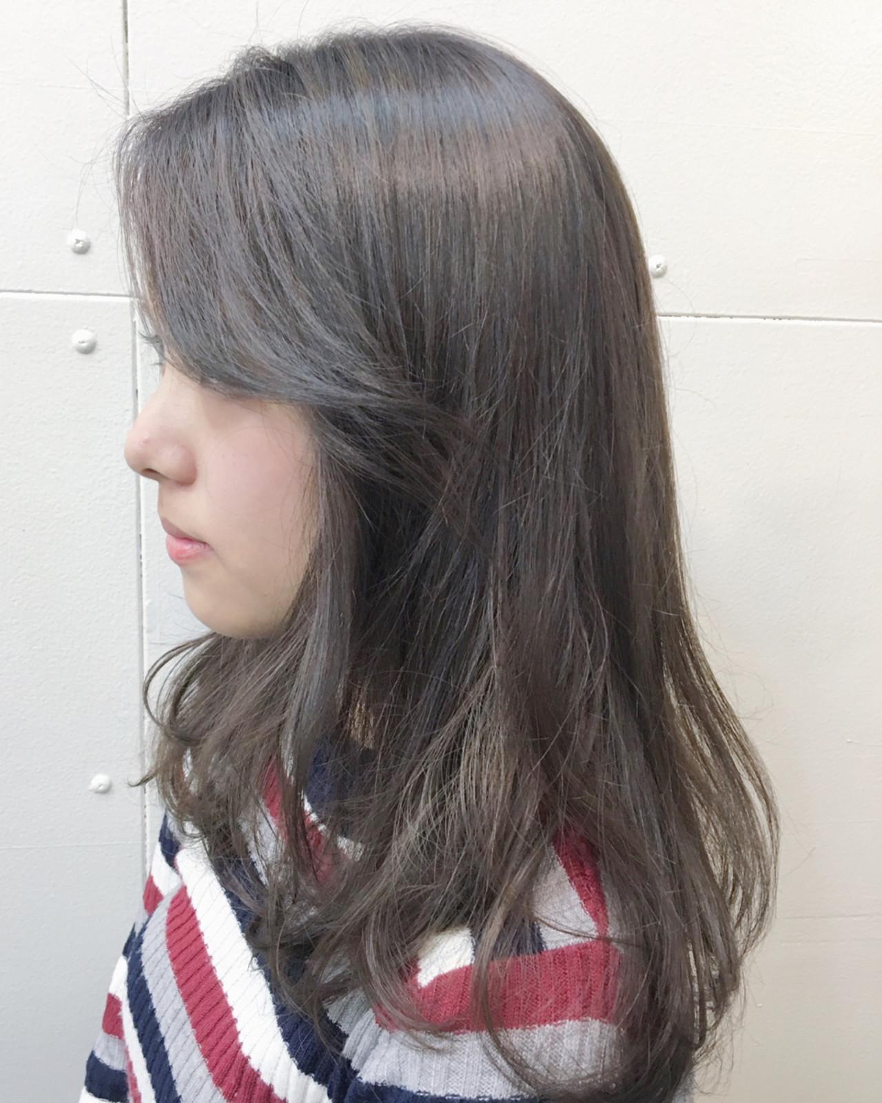 髪の毛にも優しいブリーチなしのアッシュグレージュ 下地 由美
