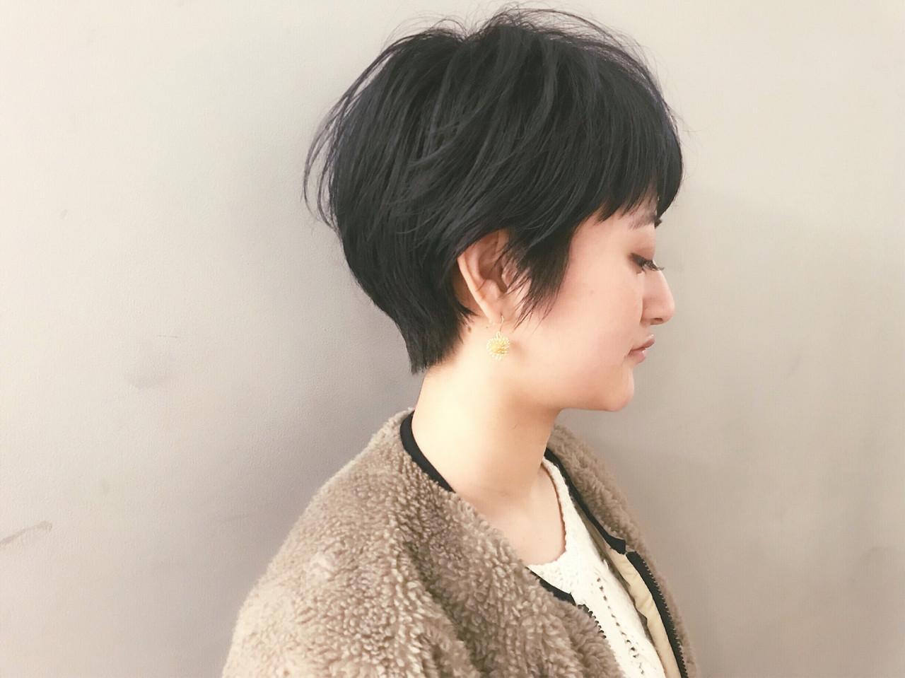耳かけショートでイヤリング見せ 仙頭郁弥 | loji+LIM