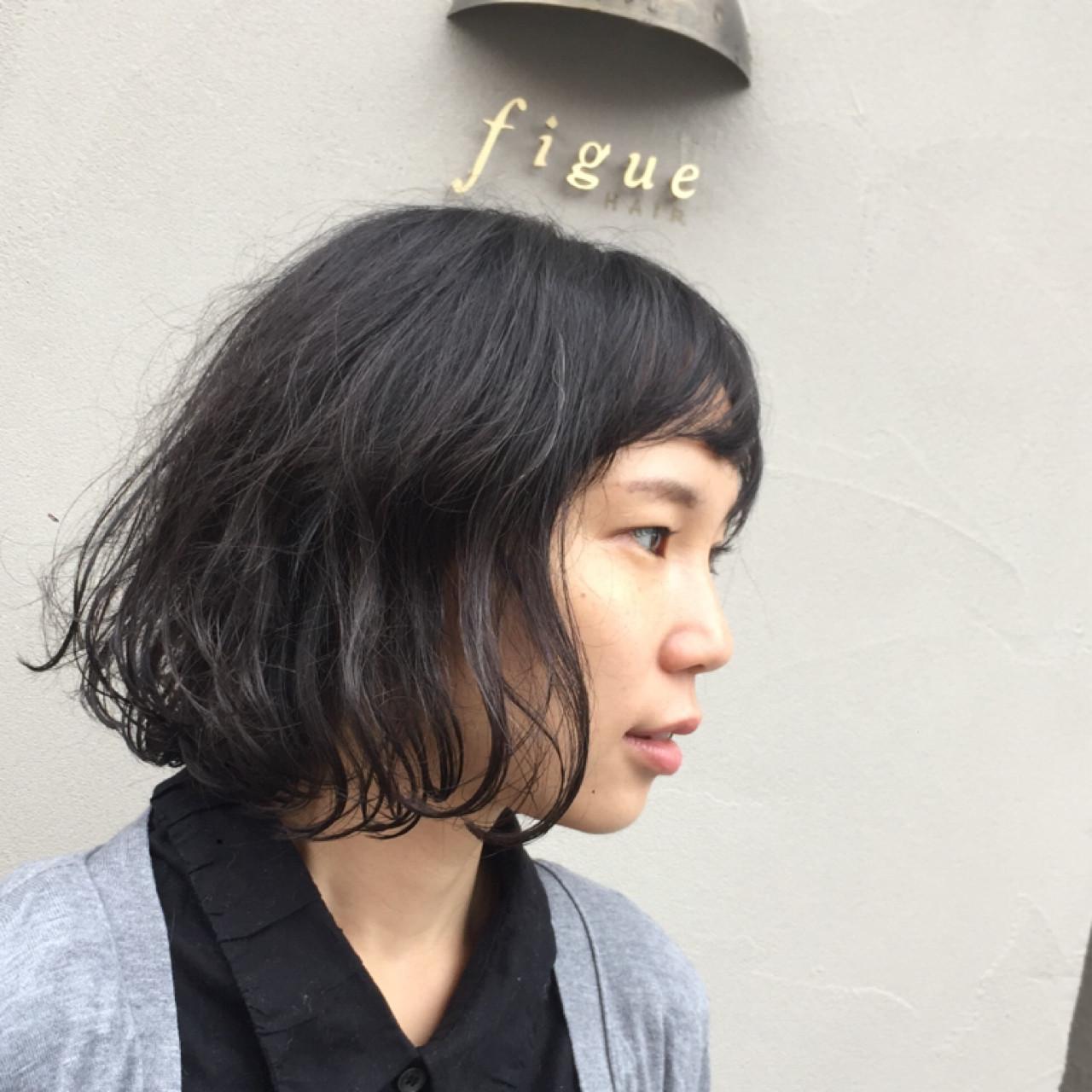 くせ毛×ゆるかわショートはキュート♪ 岩城 浩子 | figue hair