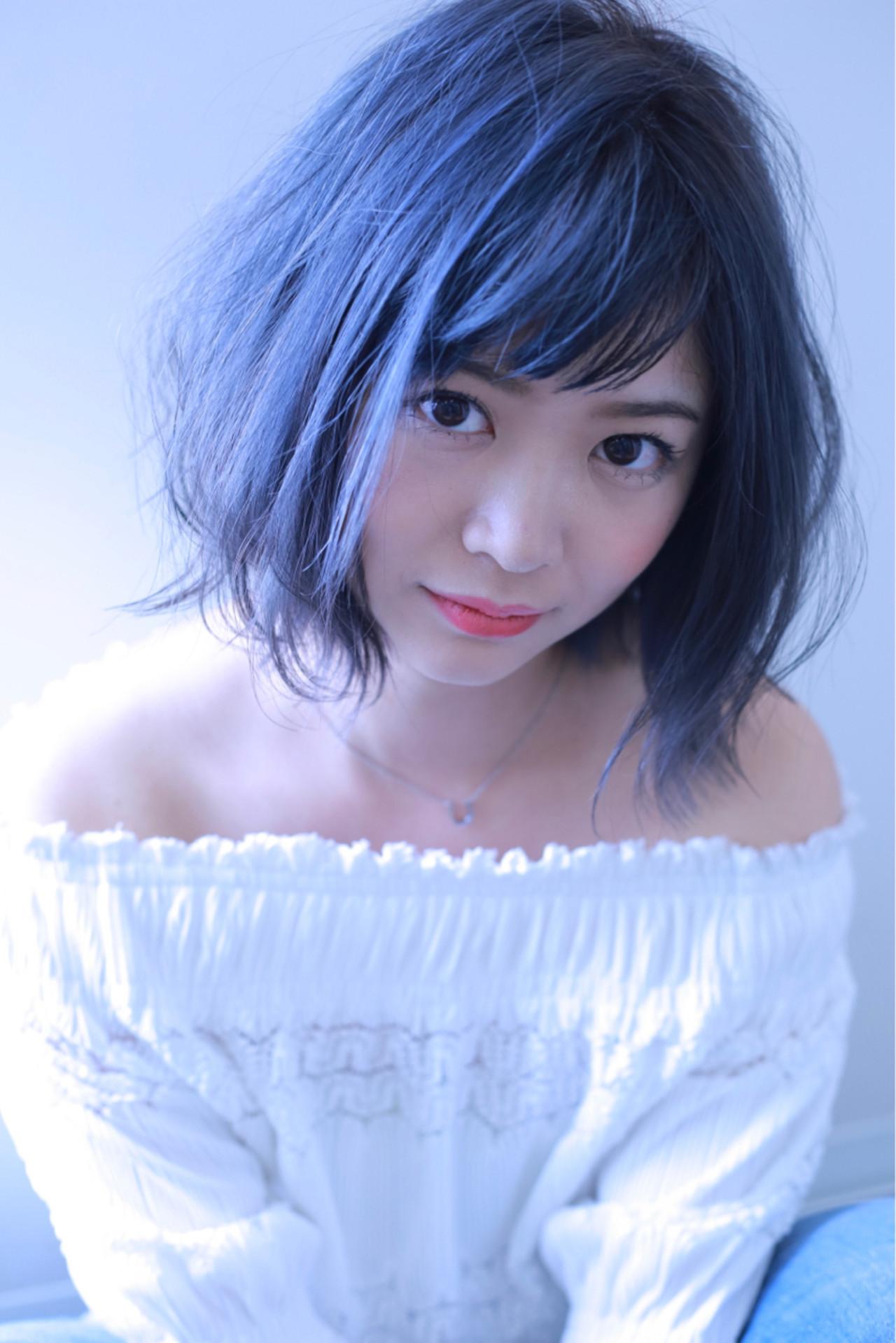 暗めブルーアッシュ+ハイライトで立体感UP! 伊藤 裕貴 | e-style上小田井店