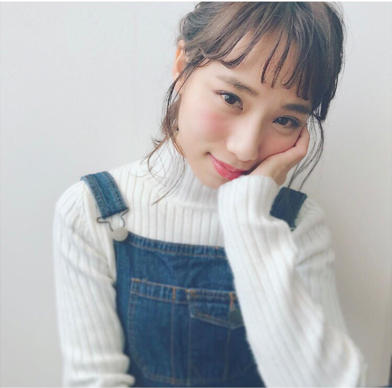 オルチャン風♡シースルーバングの巻き方 Miki