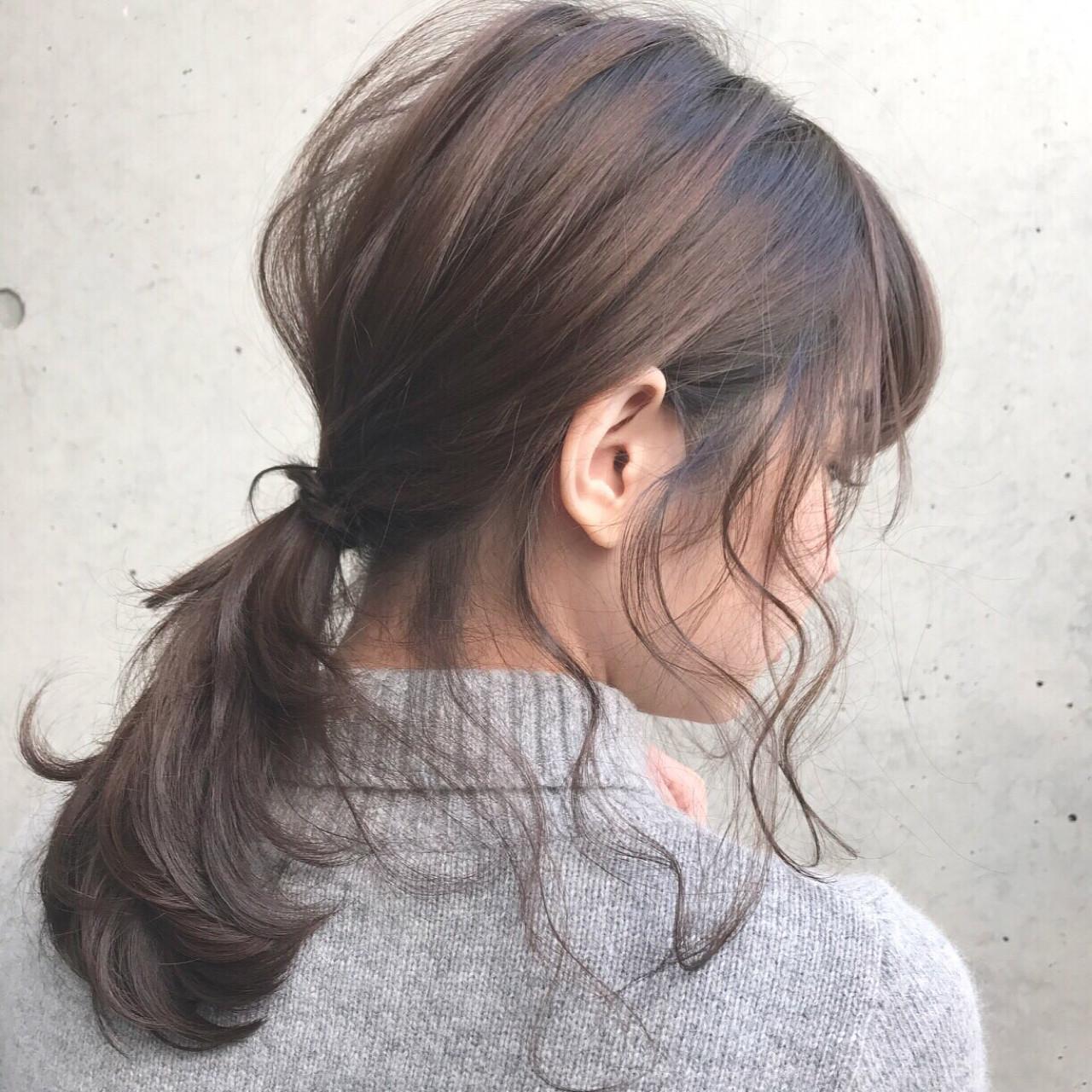 後れ毛が可愛いローポニー Daichi shimazu