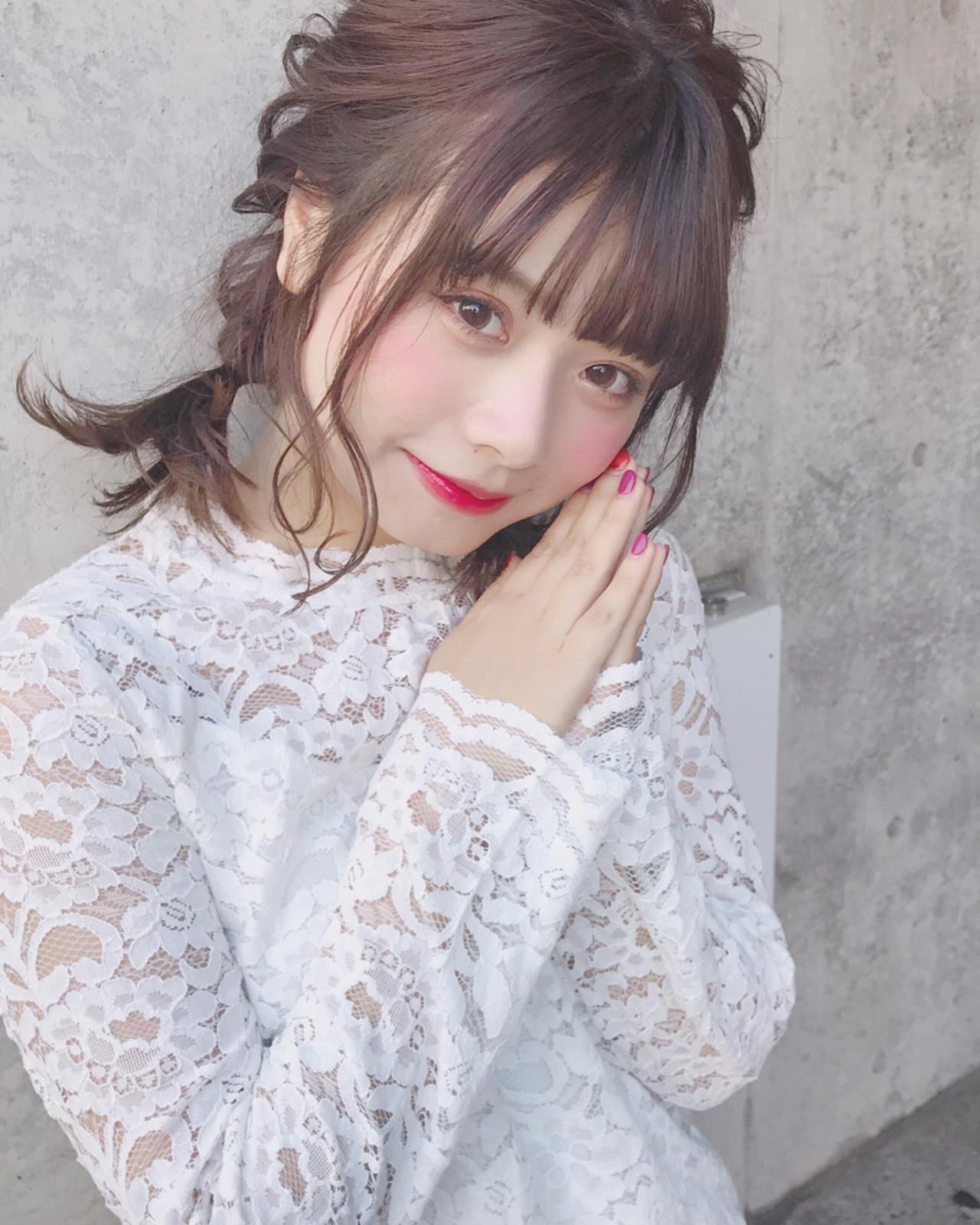 ゆるふわなツインテールはフェミニンに♡ Wataru Maeda | cache cache