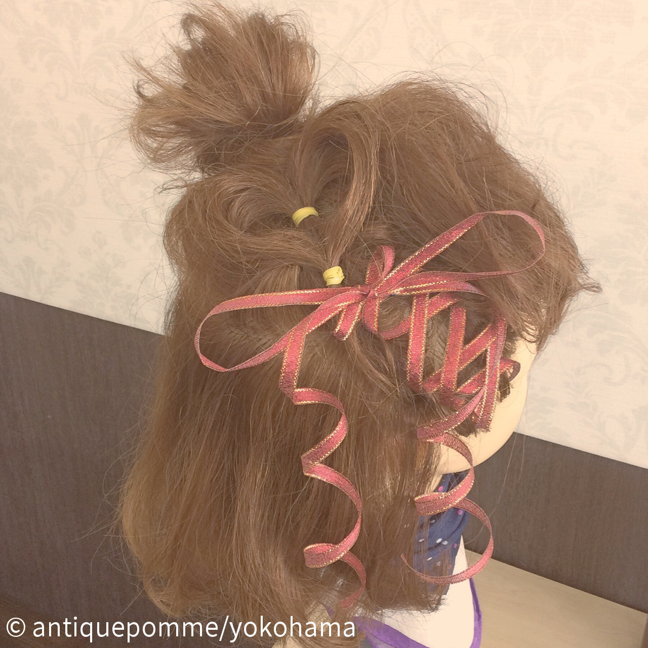 ハートをつくったお団子アレンジ  antiquepomme/yokohama
