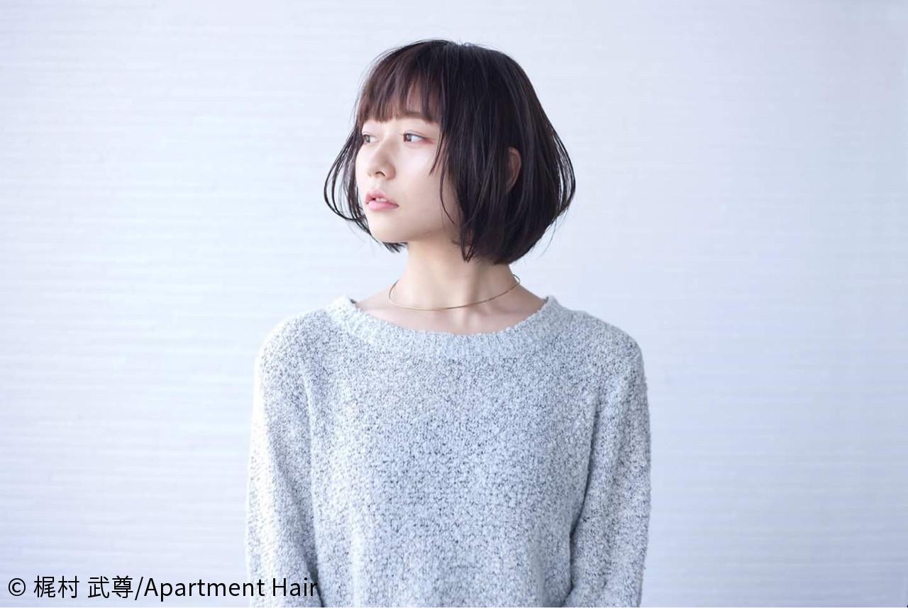 シンプルなナチュラルボブもクール♪ 梶村 武尊/Apartment Hair | Apartment Hair