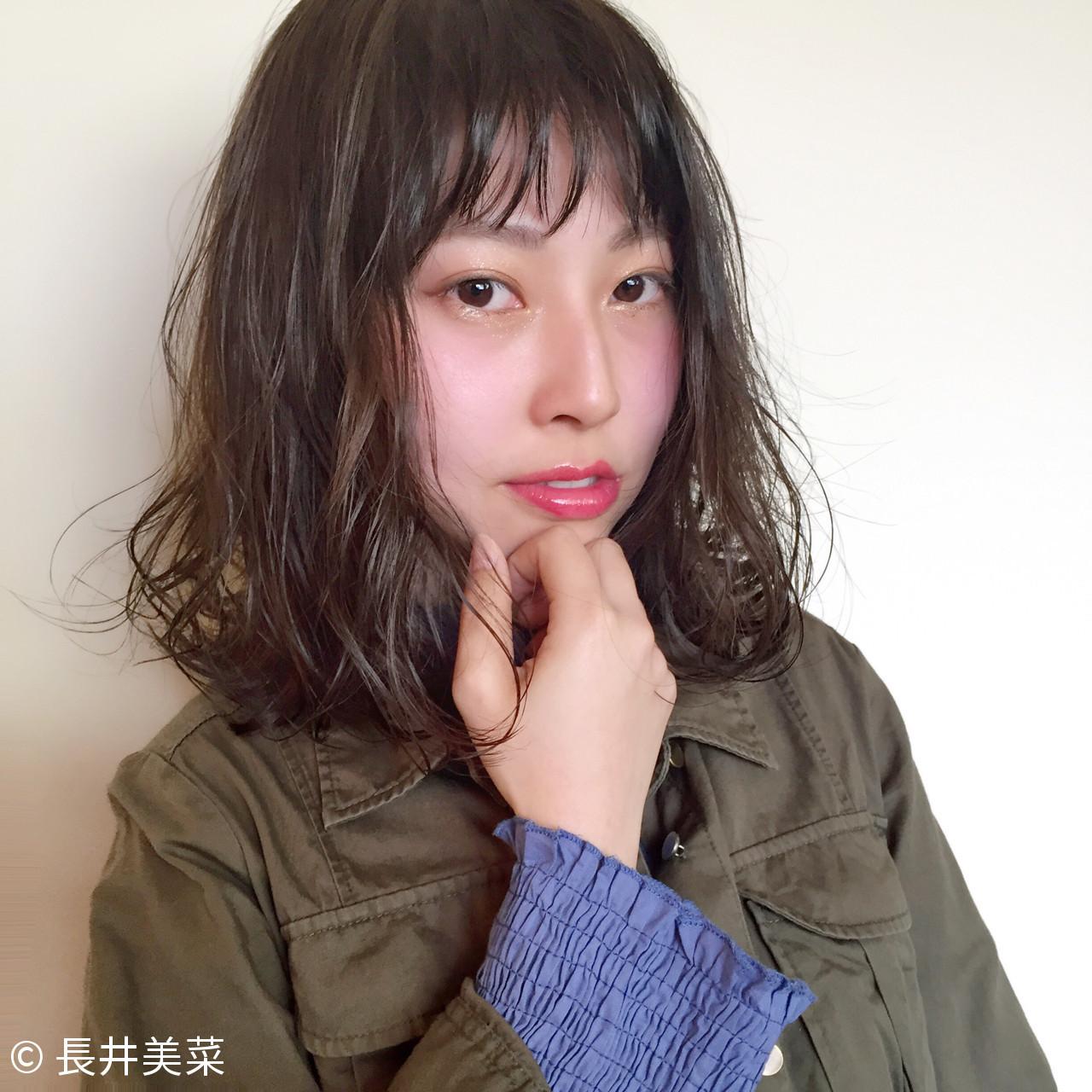 顔周りパーマでアンニュイな大人女性を演出! 長井美菜