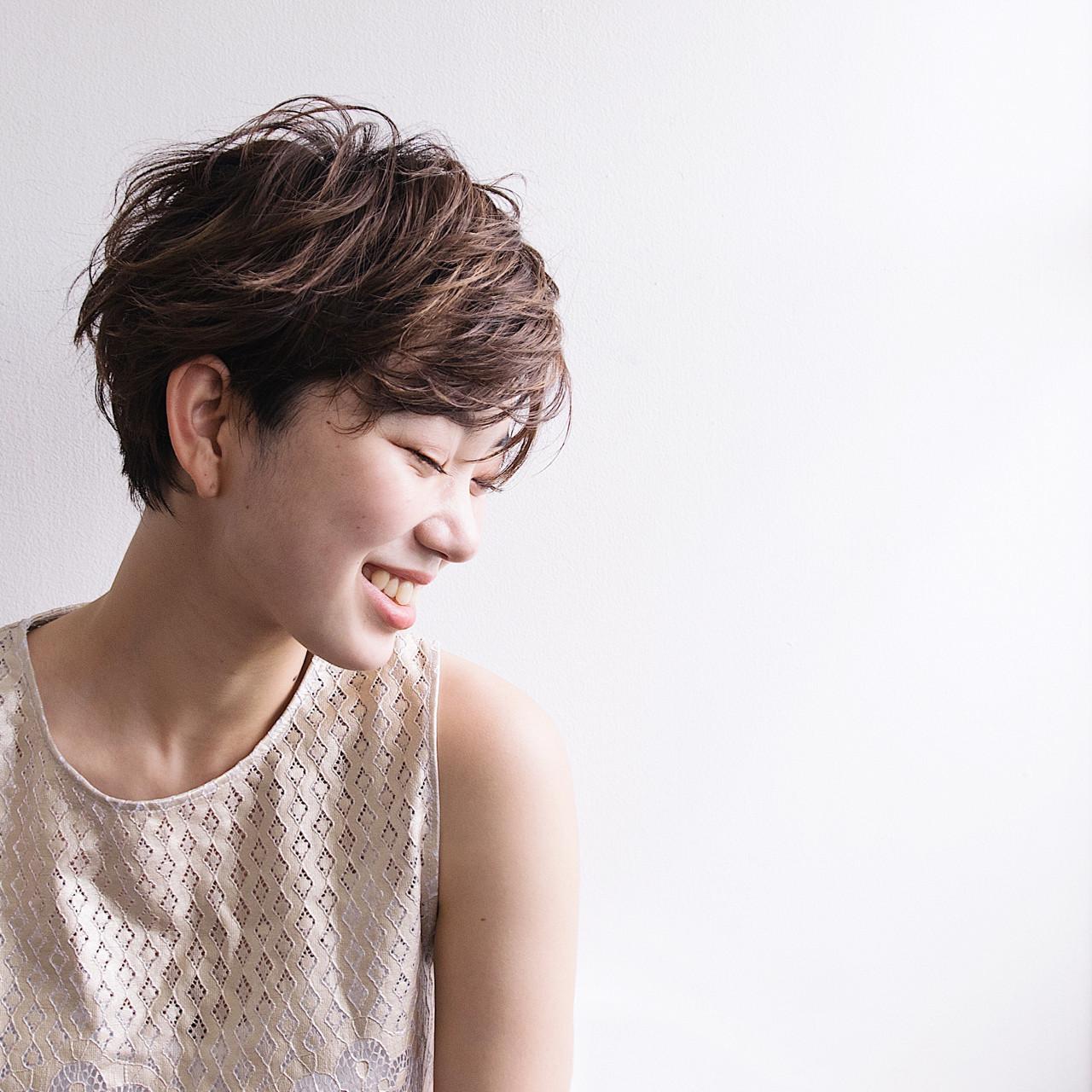 ショートの丸顔さんにおすすめ!くせ毛風パーマ♪ anti_RIKUSHI