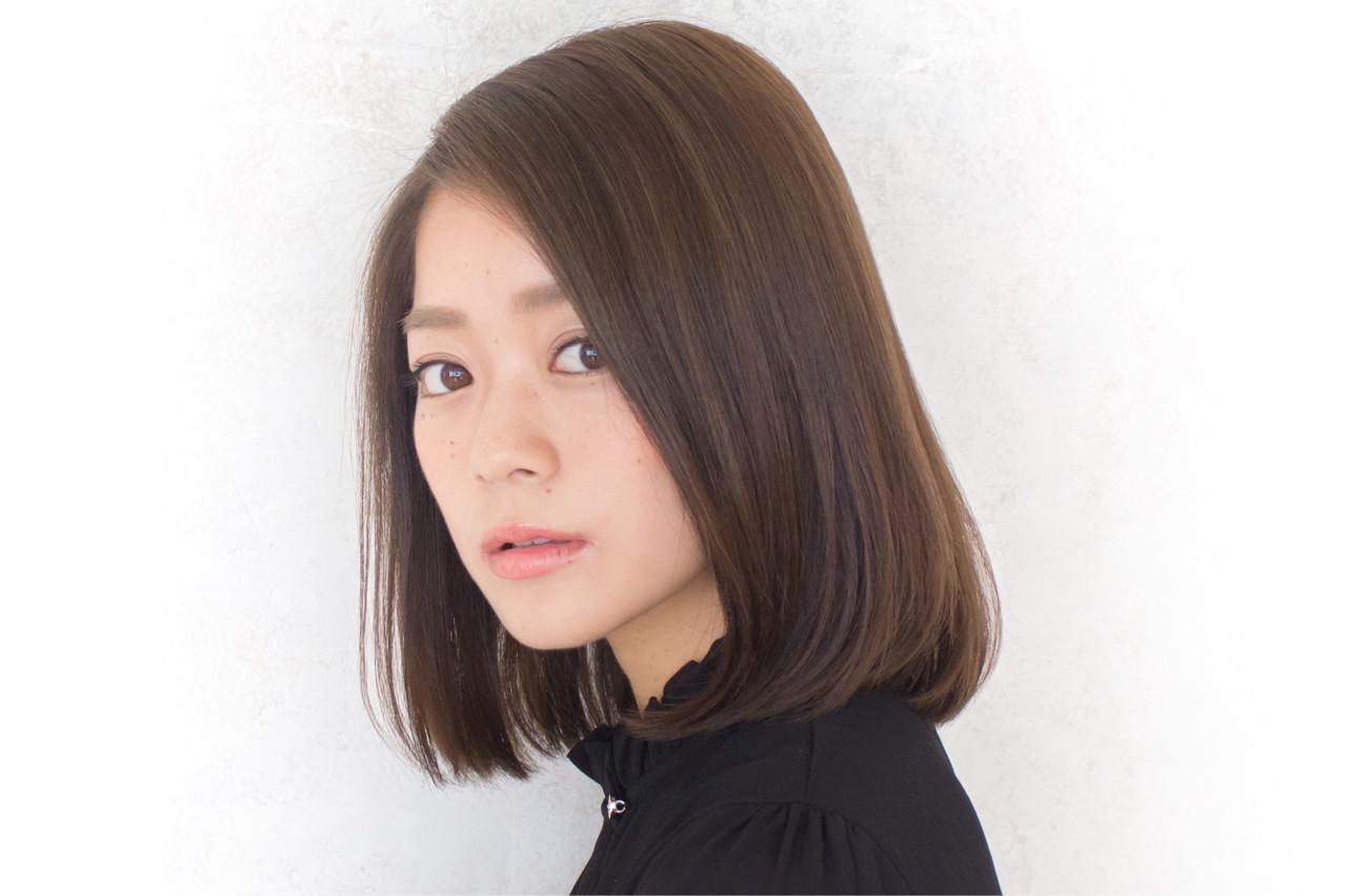 落ち着きのあるサイドパート×ストレートヘア ヒロユキ | aura(アウラ)