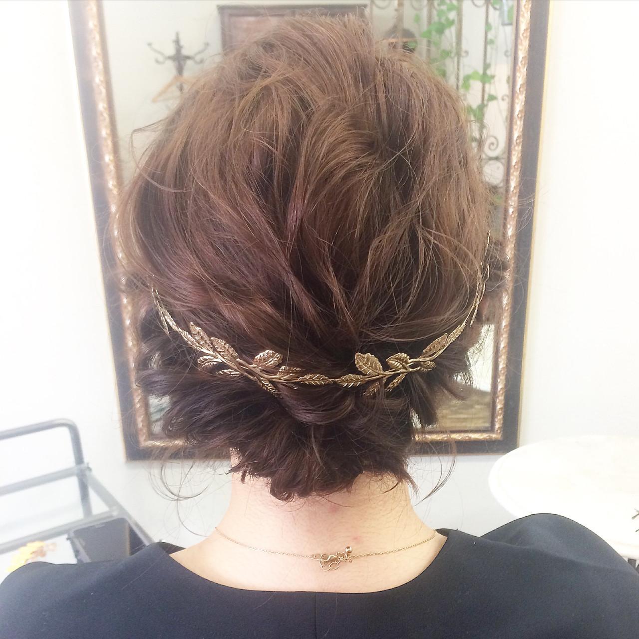 カチューシャを使ったショートのヘアアレンジ 斎藤 菜穂