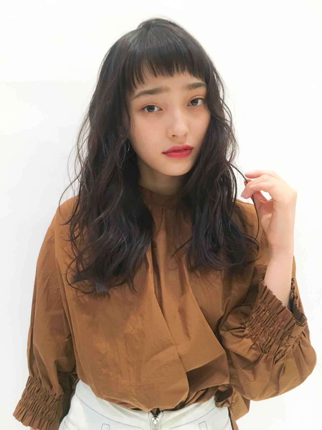 眉上バングが◎トレンドを取り入れた黒髪パーマ 表参道NORA hair salon YUKA
