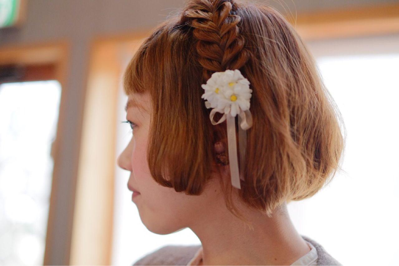 カチューシャ編みが可愛いショートヘアアレンジ ますだあいり