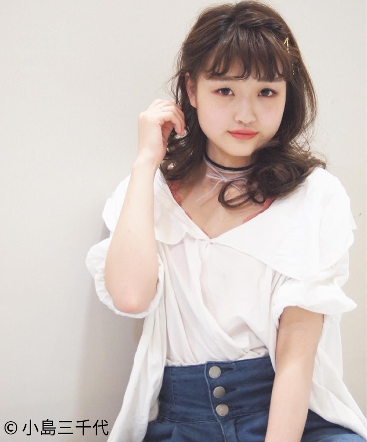 前髪のかわいいピンの留め方はこれ♡ 小島三千代
