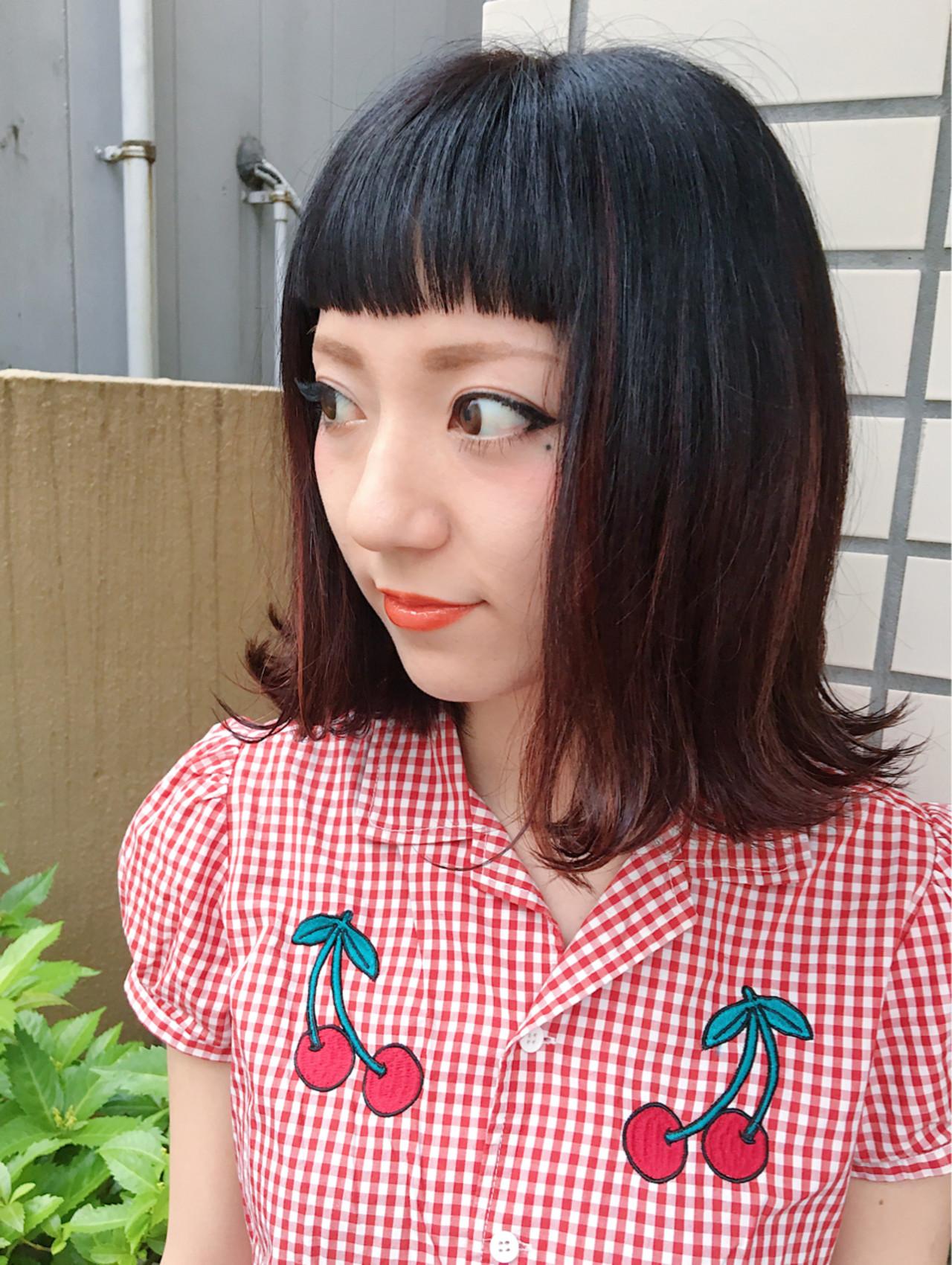 スモーキーカラーのアッシュピンクはガーリーに♡ 下地 由美