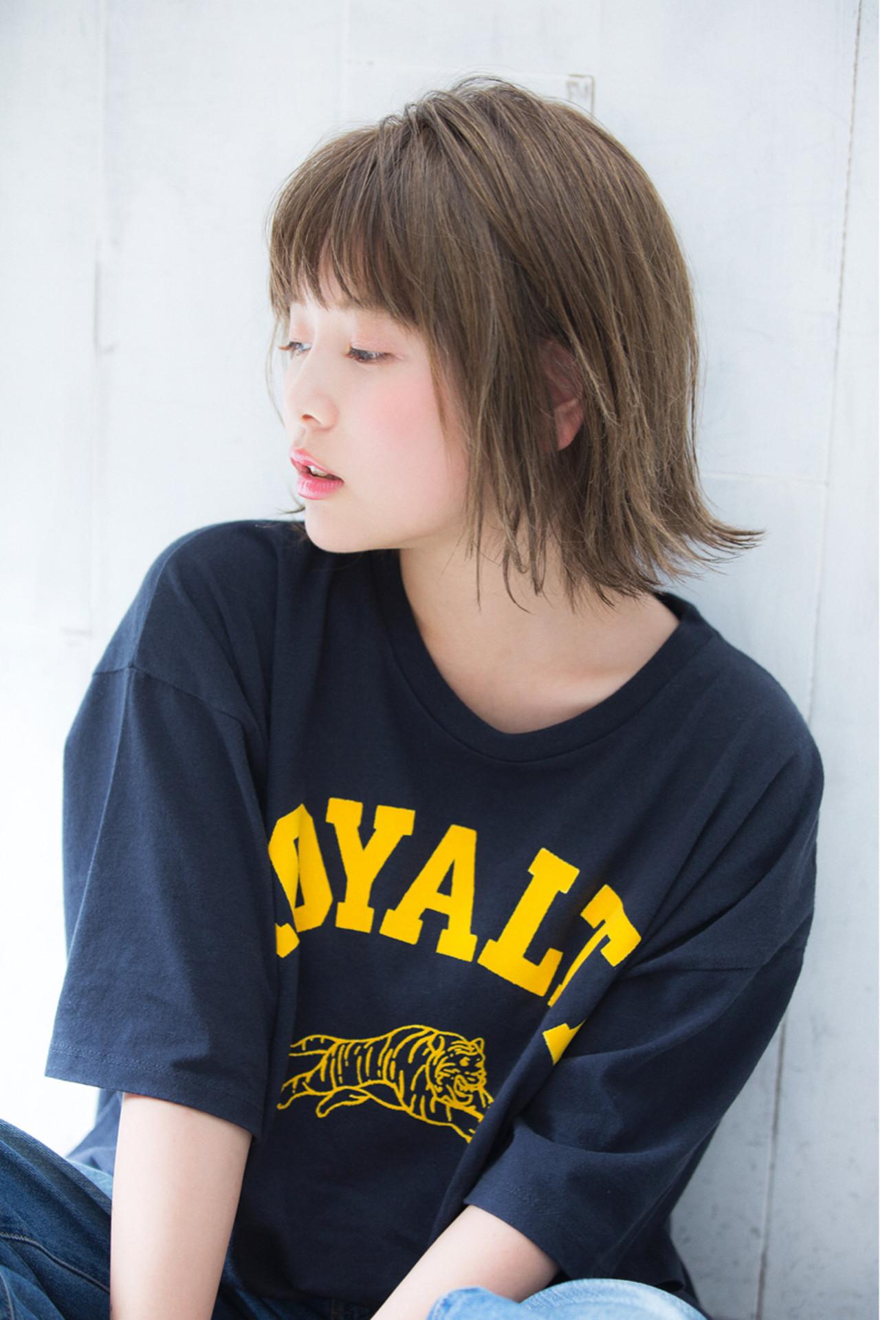 切りっぱなしボブにおすすめの前髪はこれ♡ 岩田 隆太郎