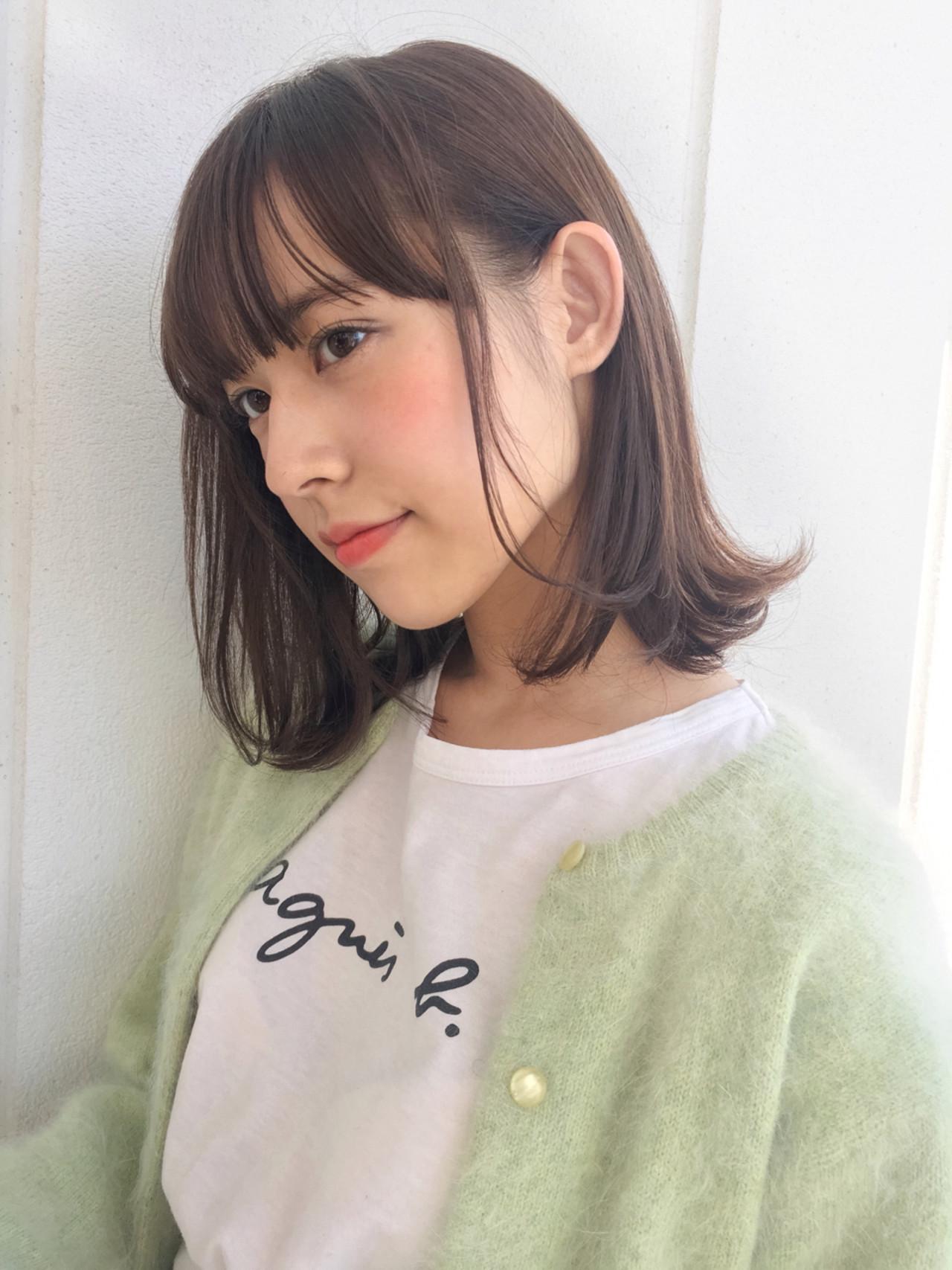 ミディアムストレートは耳かけがかわいい♡ GARDEN harajyuku 細田