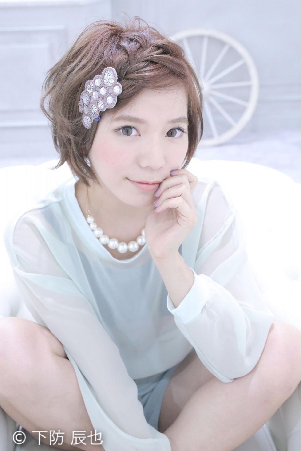 前髪三つ編みでショートヘアをフェミニンに 下防 タツヤ ☆sCene☆