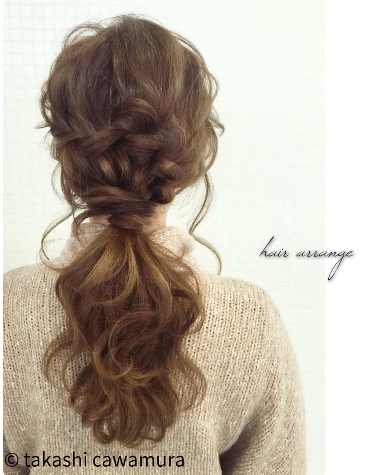 ヘアアレンジ ロング 大人女子 ウォーターフォール ヘアスタイルや髪型の写真・画像