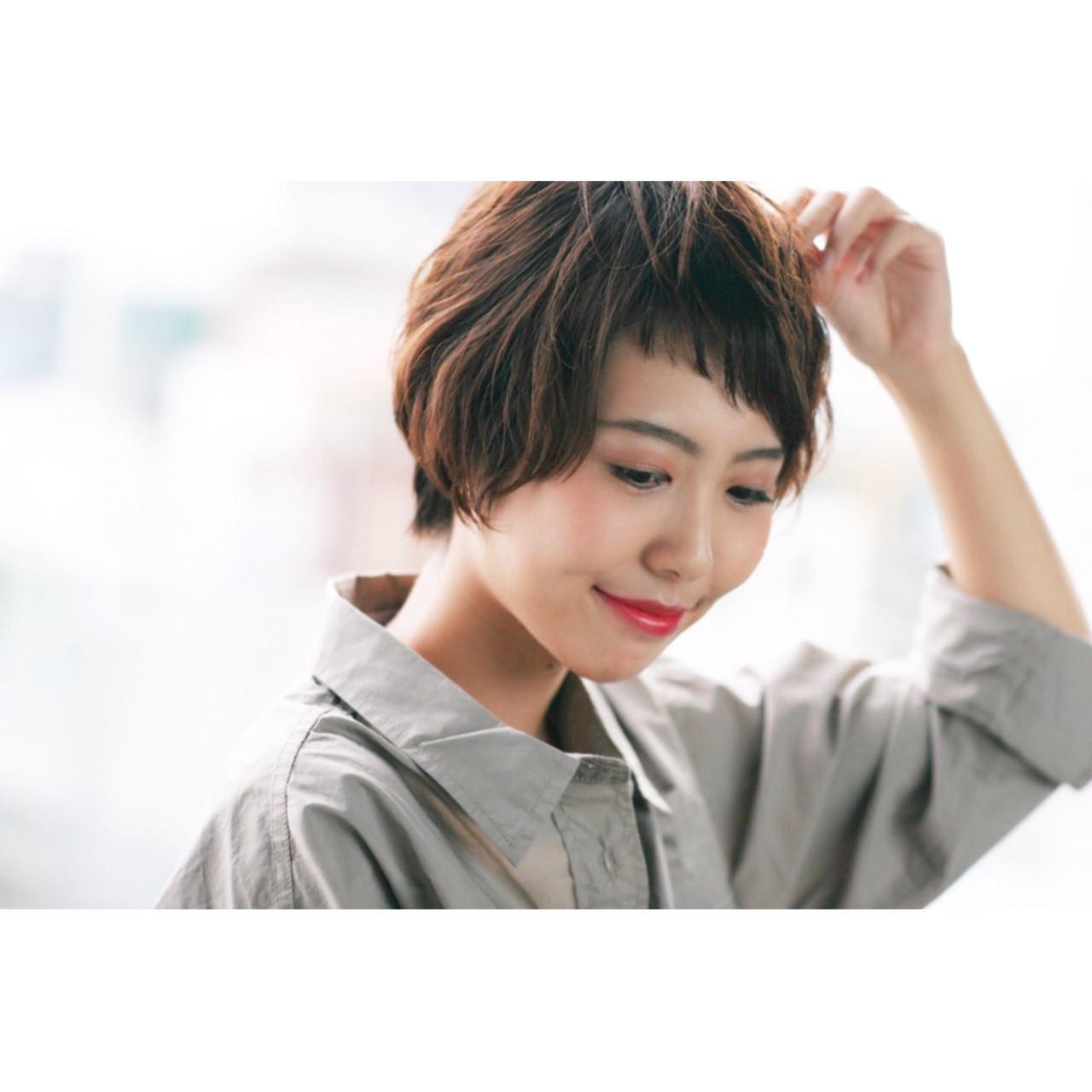 アシメ前髪のモードなマッシュショート♡ 吉川 知志