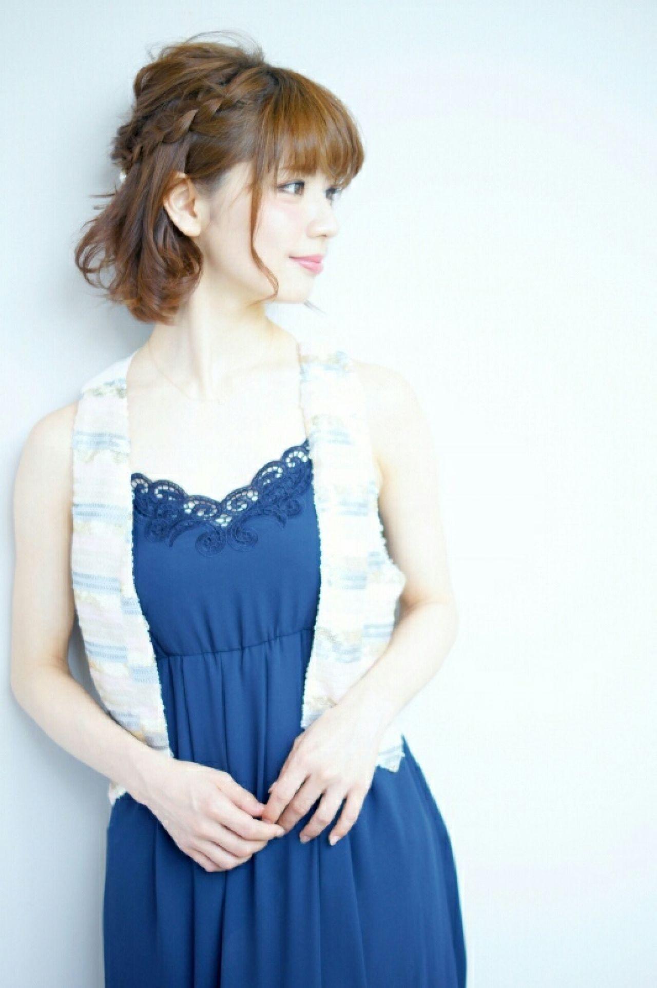 三つ編みのハーフアップで大人可愛い雰囲気に Ciel Hairdesign 代表 今田 亮