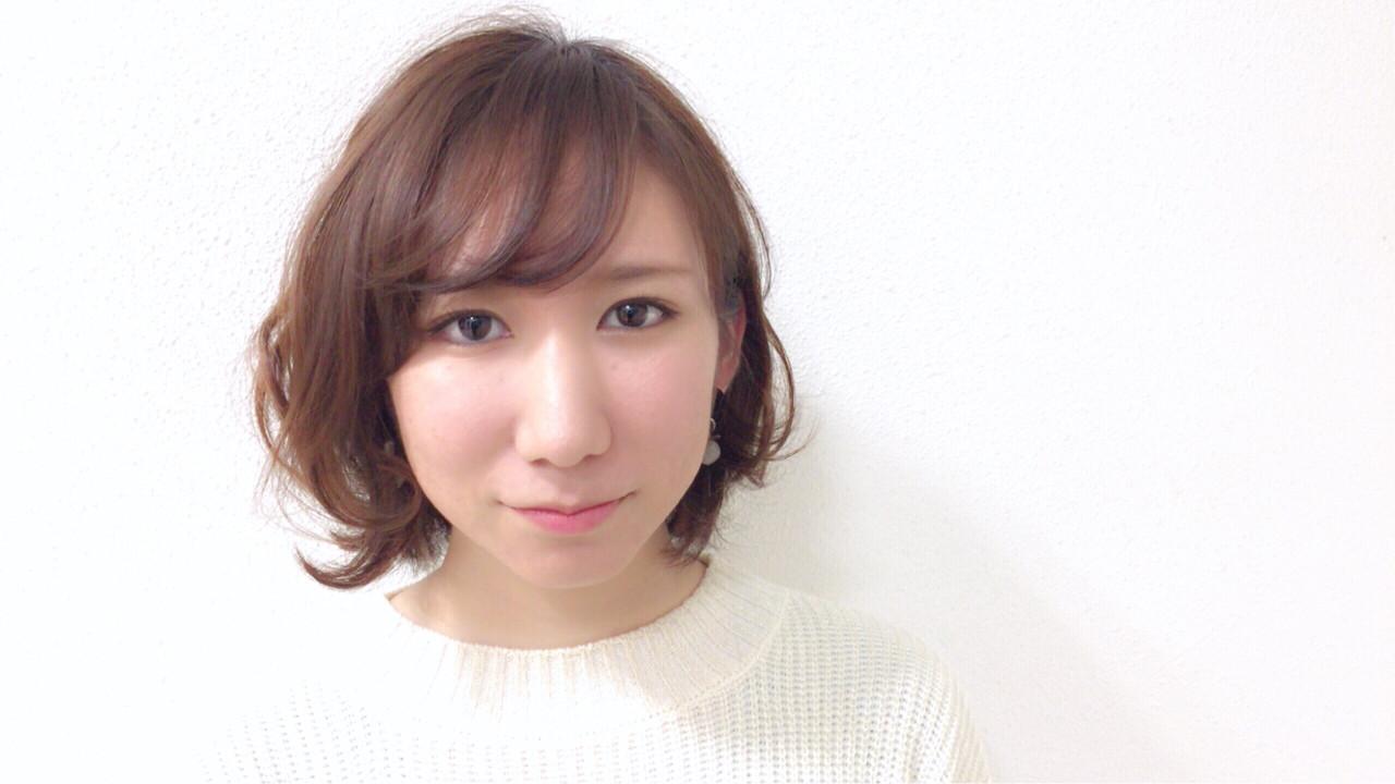 ゆるふわパーマ×斜めバングでフェミニンに♡ Taniguchi Yukiko | HEART