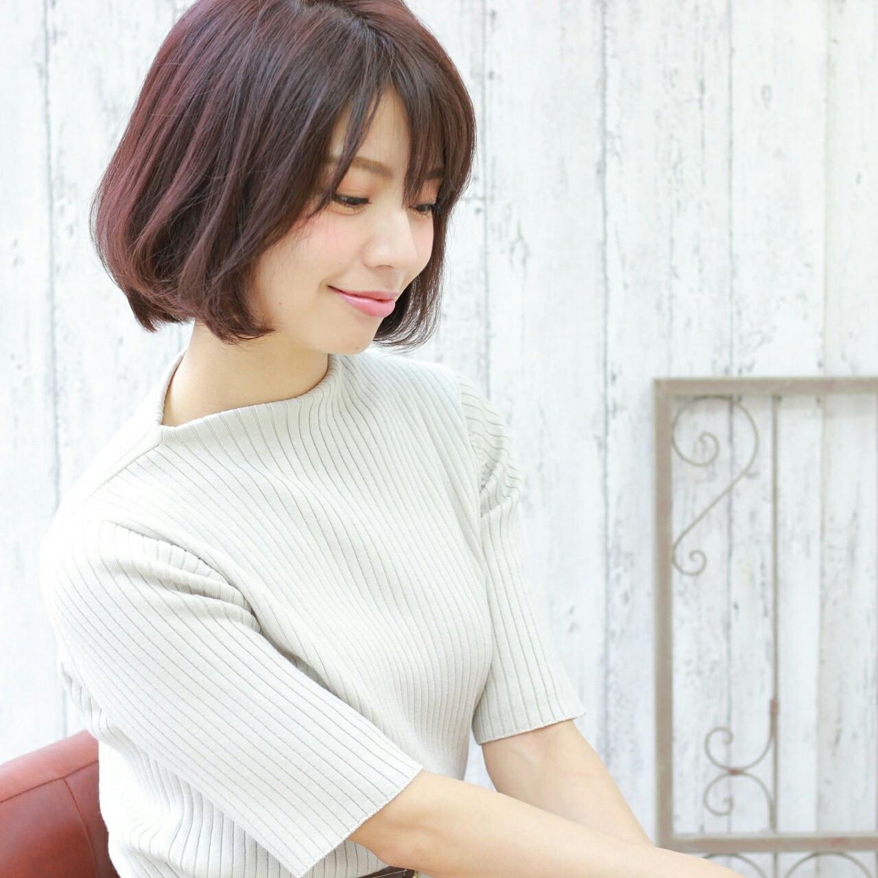 ショートボブ×前髪ありは男性ウケ抜群 前田えみ/BLOOM