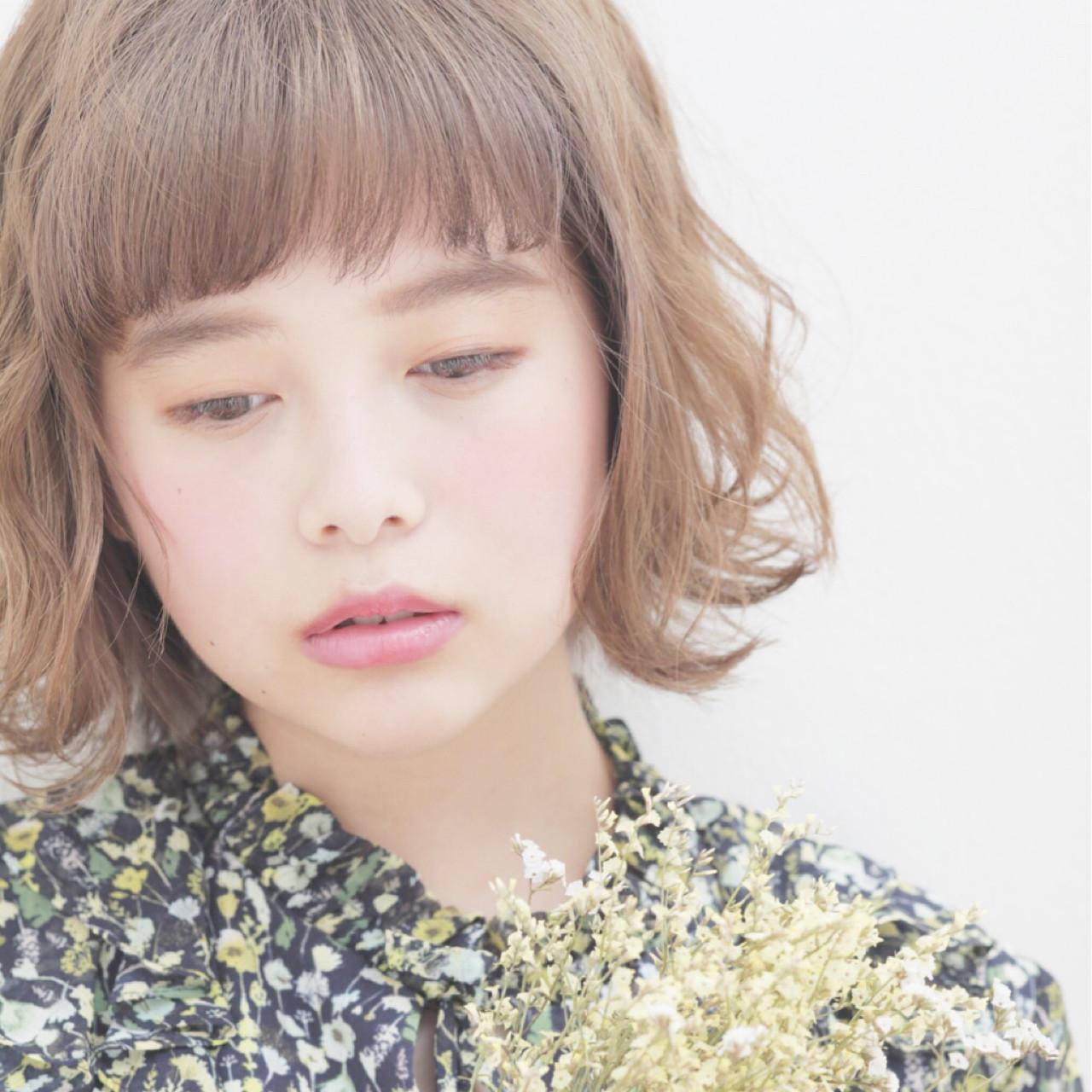 ぱっつん前髪でピュアな表情に変身 竹村 春香