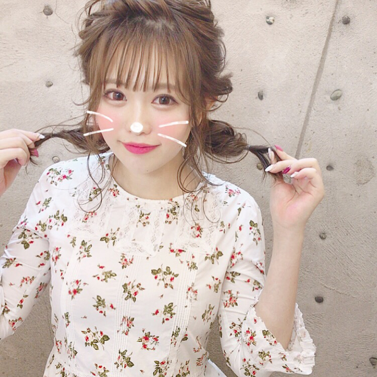 編み込みツインテールでフェミニンに♡ Wataru Maeda