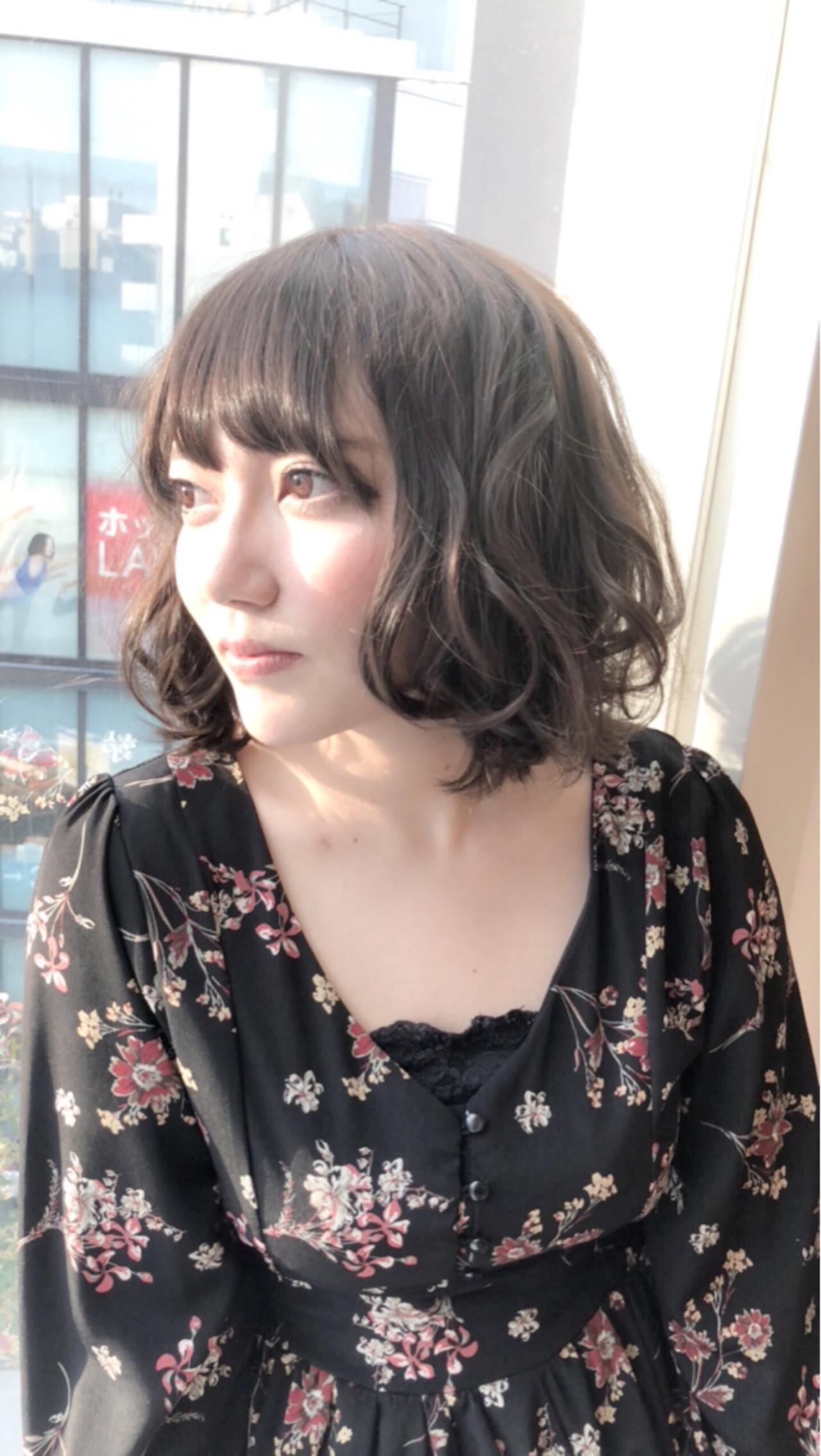 ワンレンボブ×ミックス巻きでラフ感UP! Hiroki Morita | Afinar