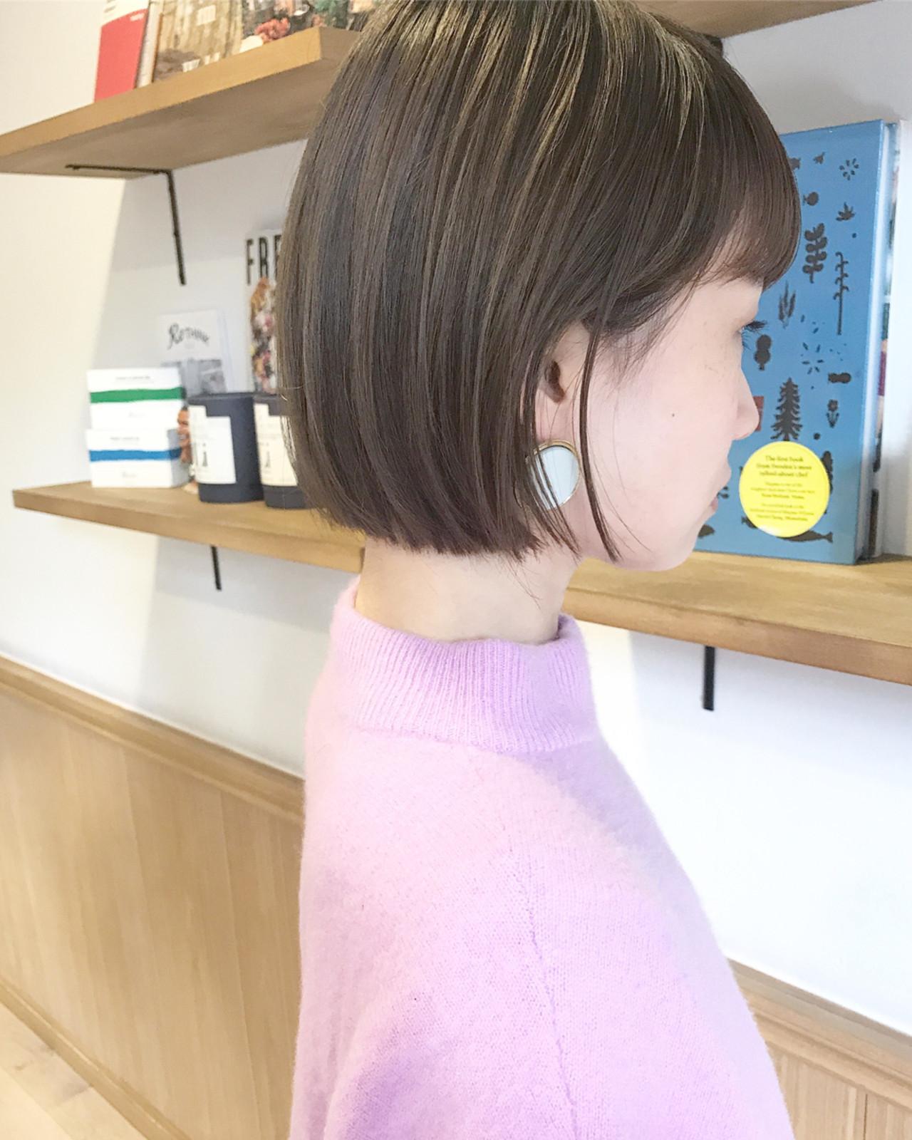 茶髪×ストレートボブならゆるふわ女子に 祖父江基志 | NOESALON