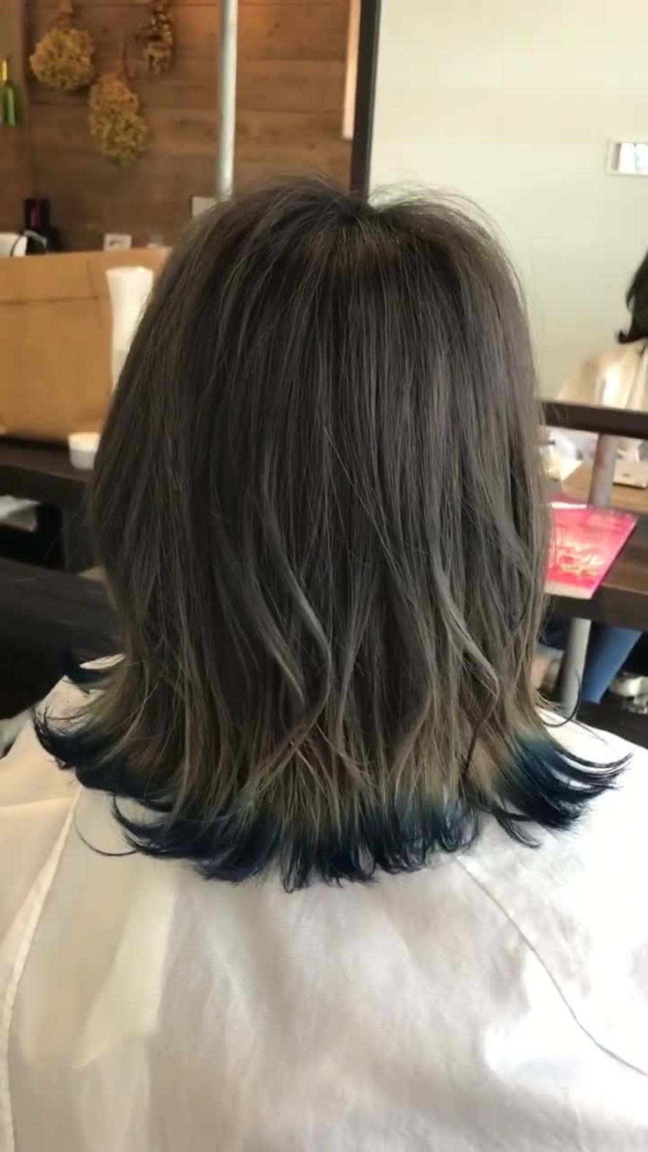 鮮やかブルーが美しい裾グラデーション 井上 善広
