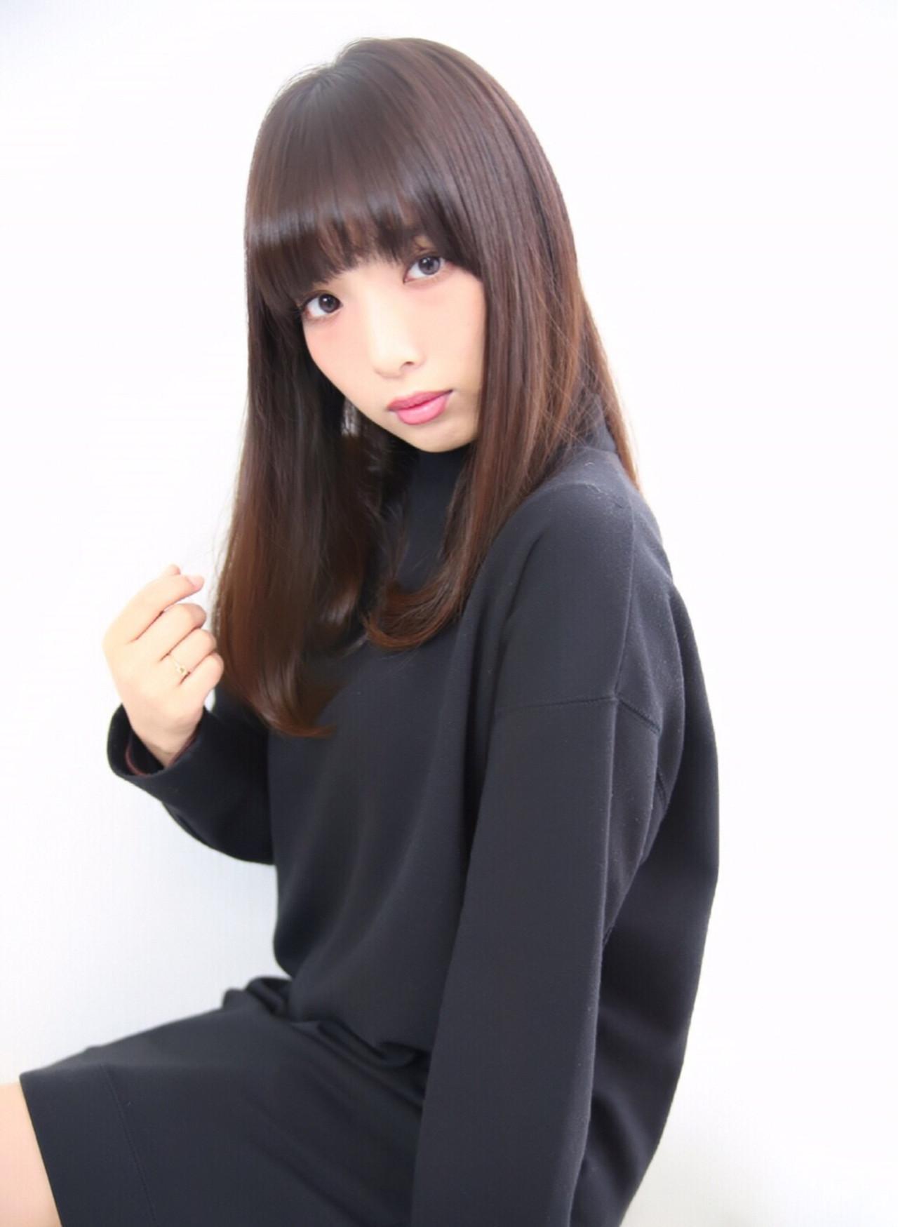 オルチャン×黒髪ミディアムで内巻きワンカール Obayashi Natsumi