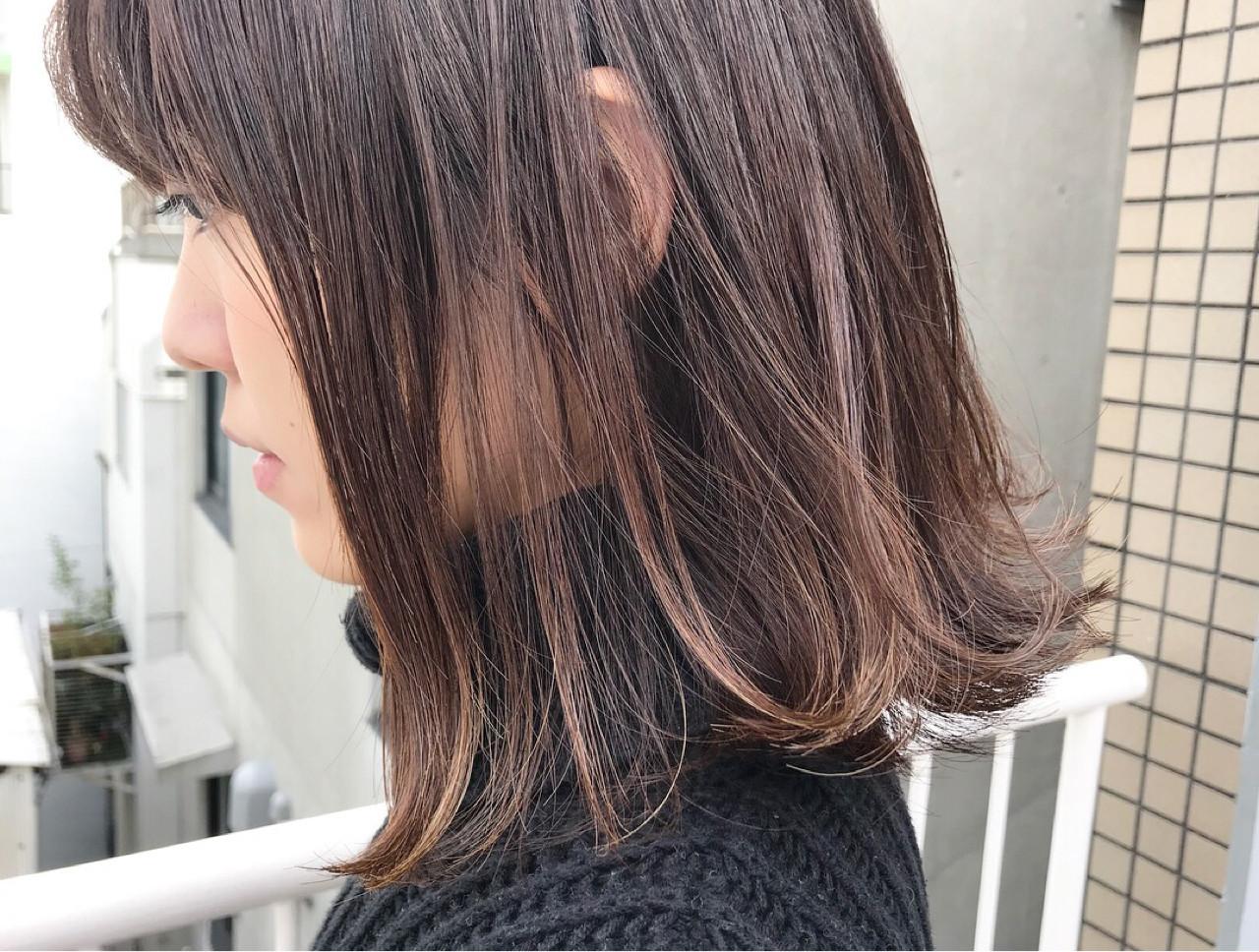 王道のワンカールなら女性らしいミディアムヘアに miya/@1031miya | フリーランス(XENA)
