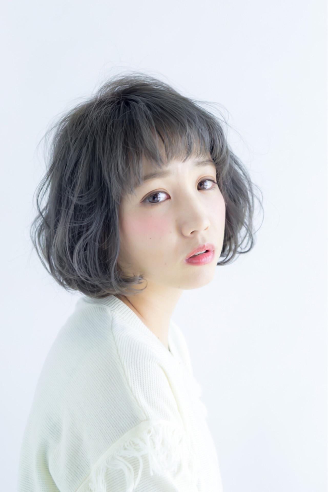 カールボブ×ショートバングならゆるかわに 三上 奈巳 | Spin hair 烏丸店